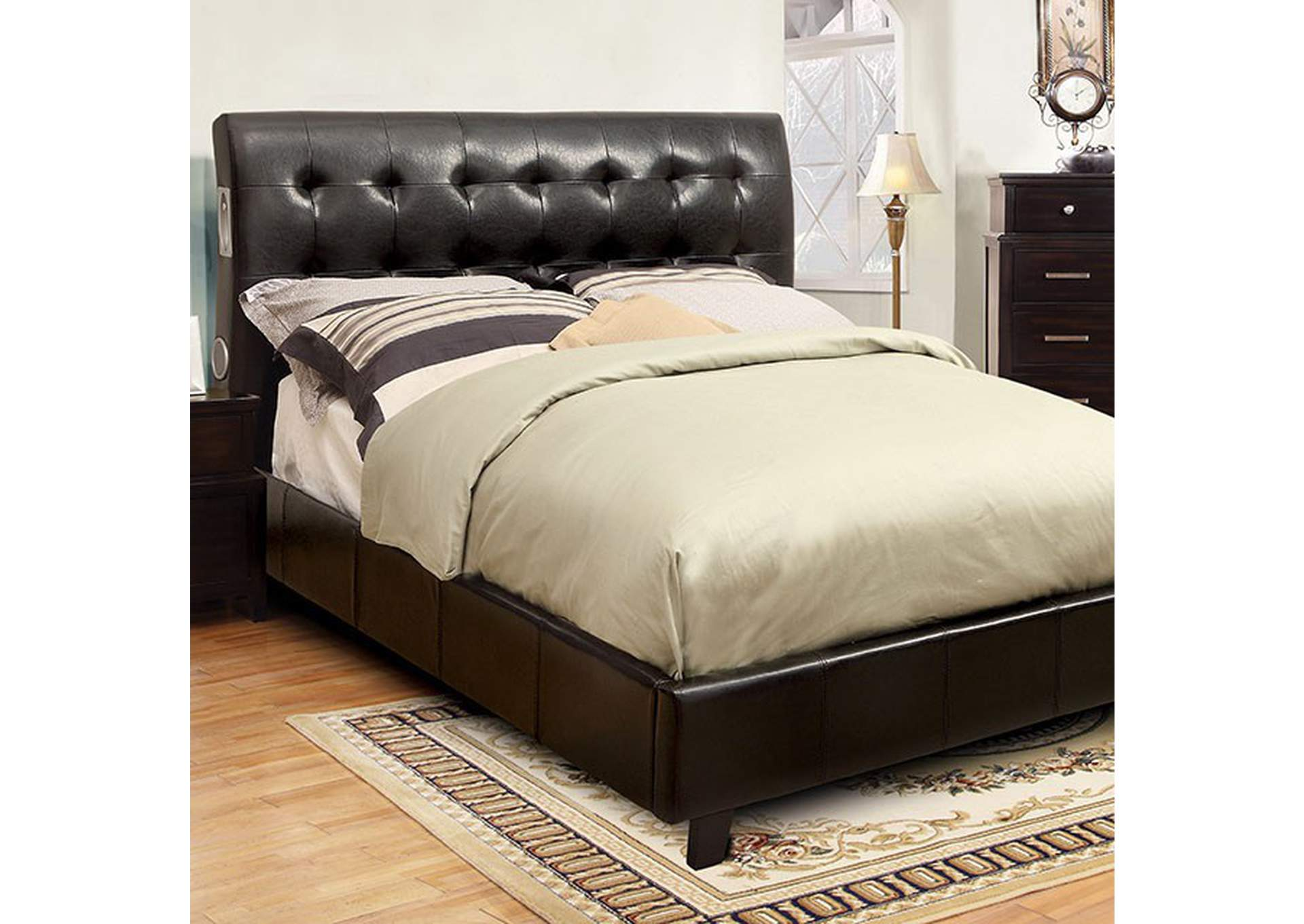 Hendrik Espresso Queen Platform Bed,Furniture of America