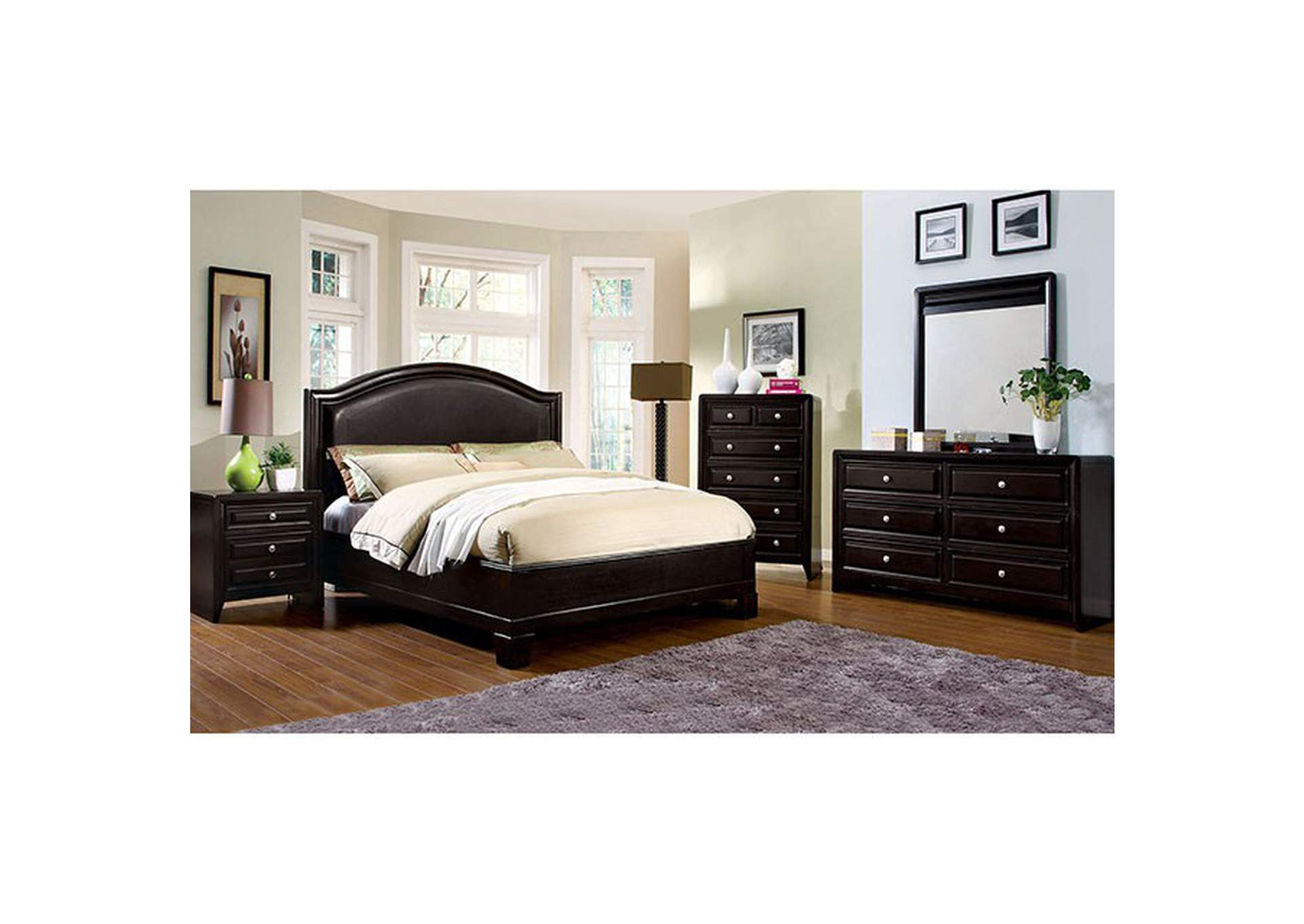 Winsor Espresso Queen Bed,Furniture of America