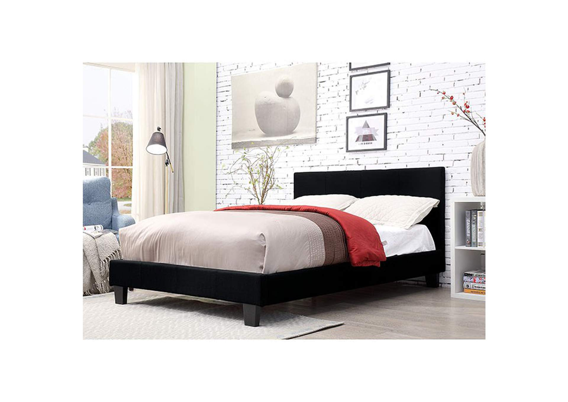 Sims Black California King Bed,Furniture of America