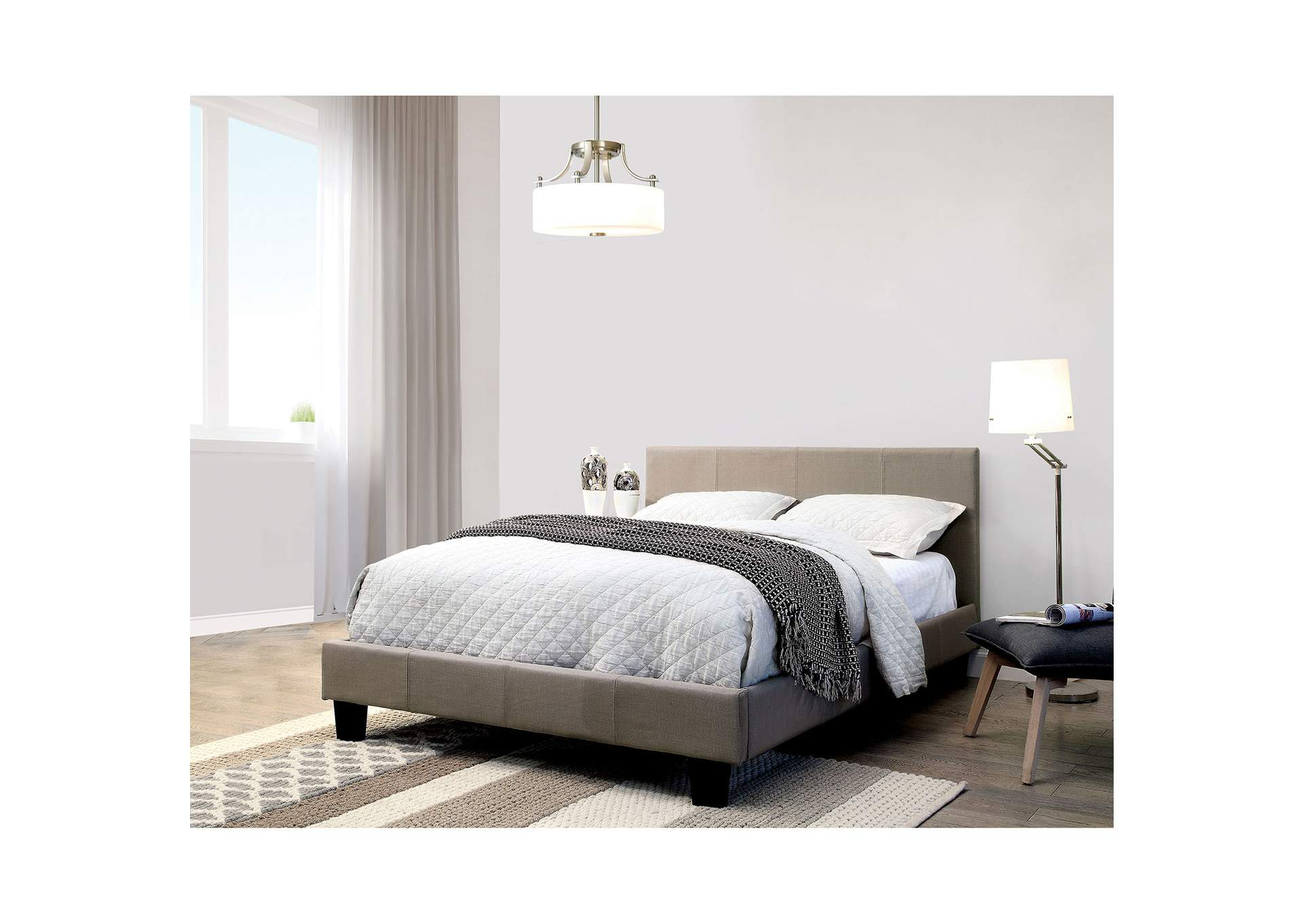 Sims Gray California King Platform Bed,Furniture of America