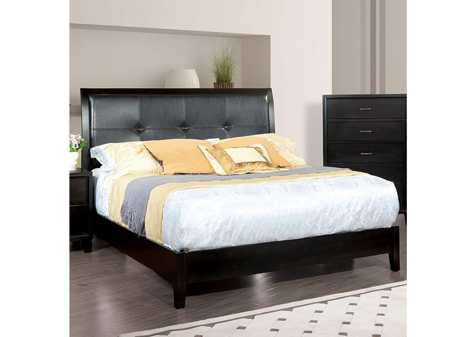 Enrico Brown Cherry Queen Bed,Furniture of America