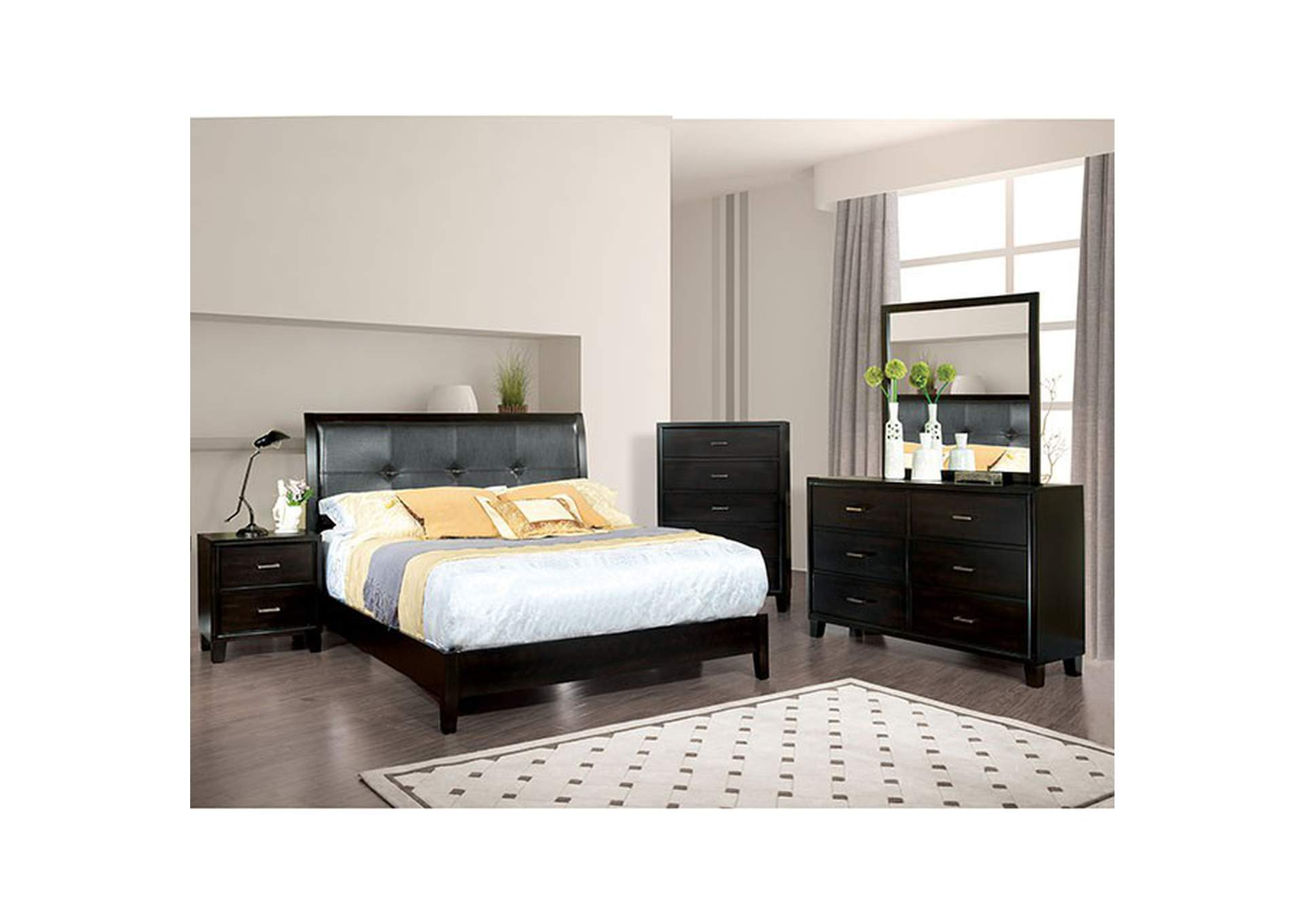 Winn Park Black Vanity W Stool Dream Decor Furniture