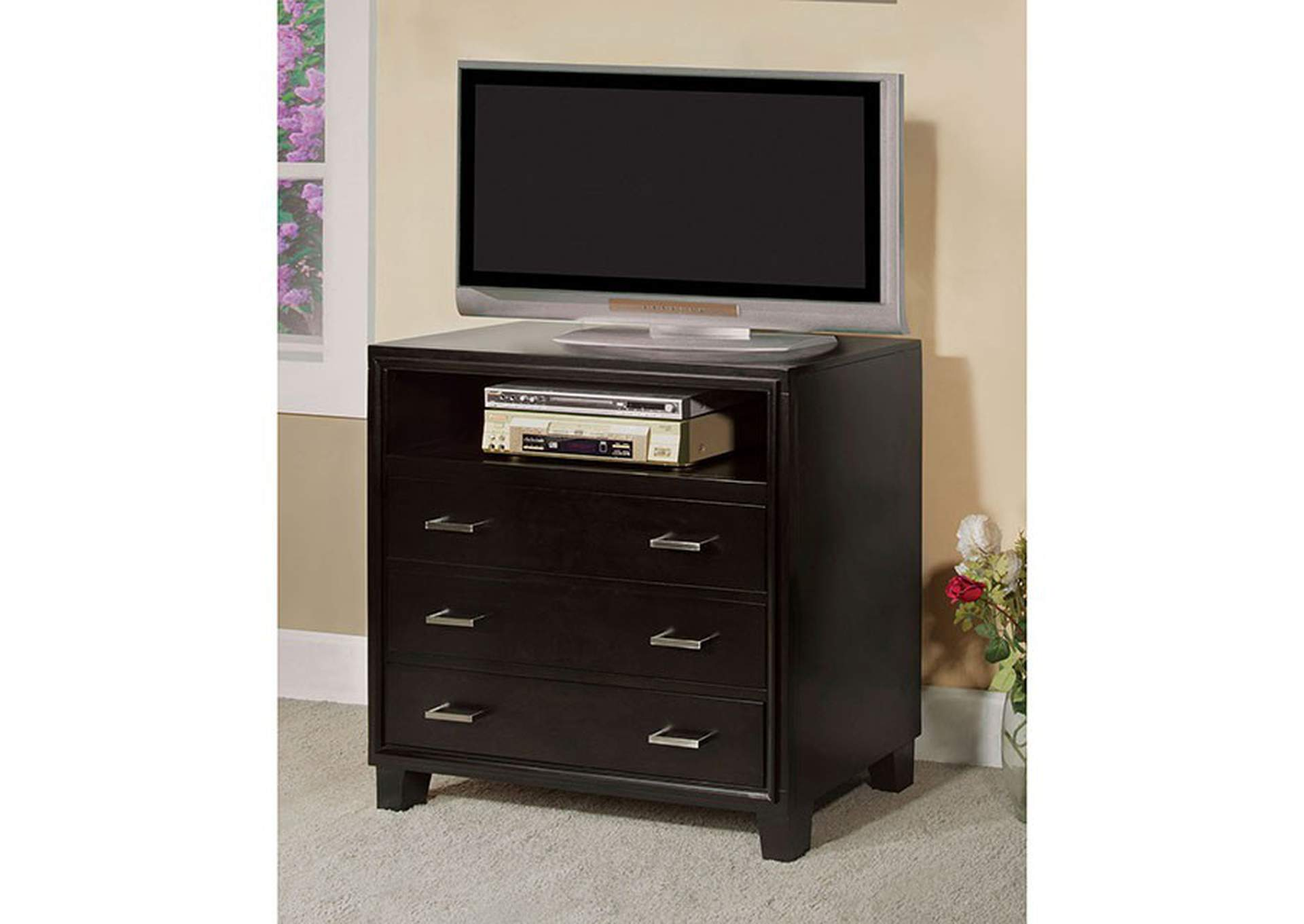 Enrico Espresso Media Chest,Furniture of America