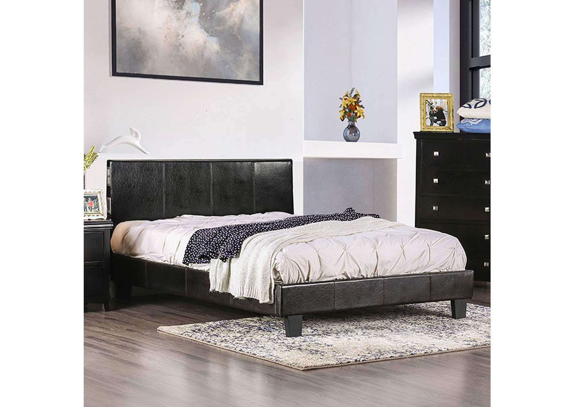 Evans Espresso California King Platform Bed Home Gallery Furniture Store Philadelphia Pa