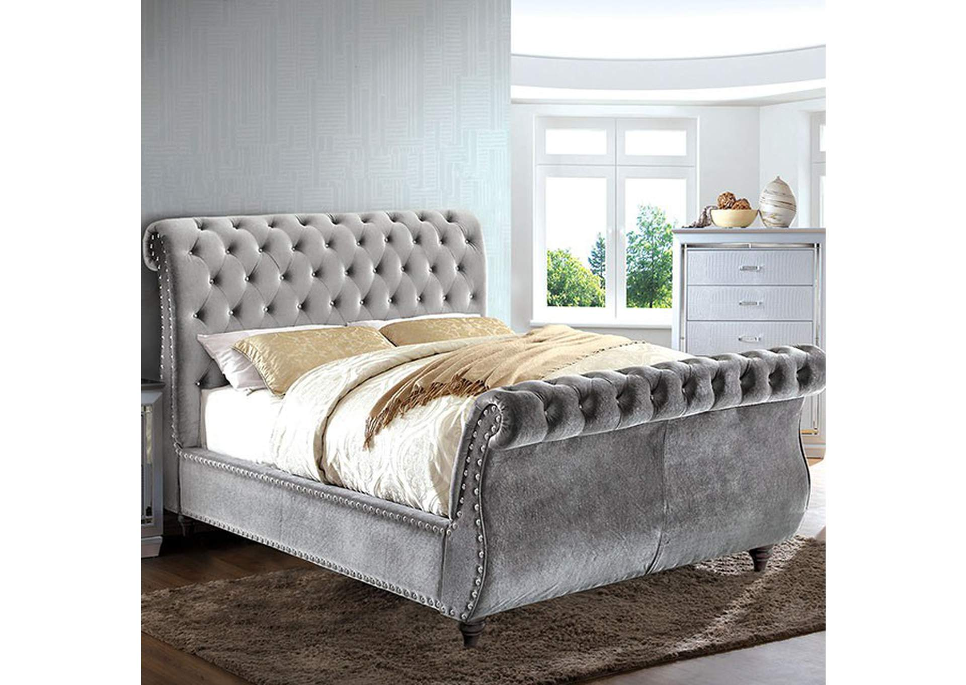 Noella Gray Queen Bed,Furniture of America
