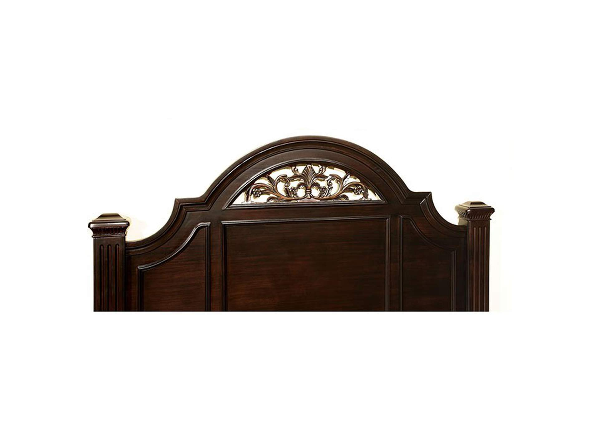Syracuse Dark Walnut Queen Poster Bed,Furniture of America