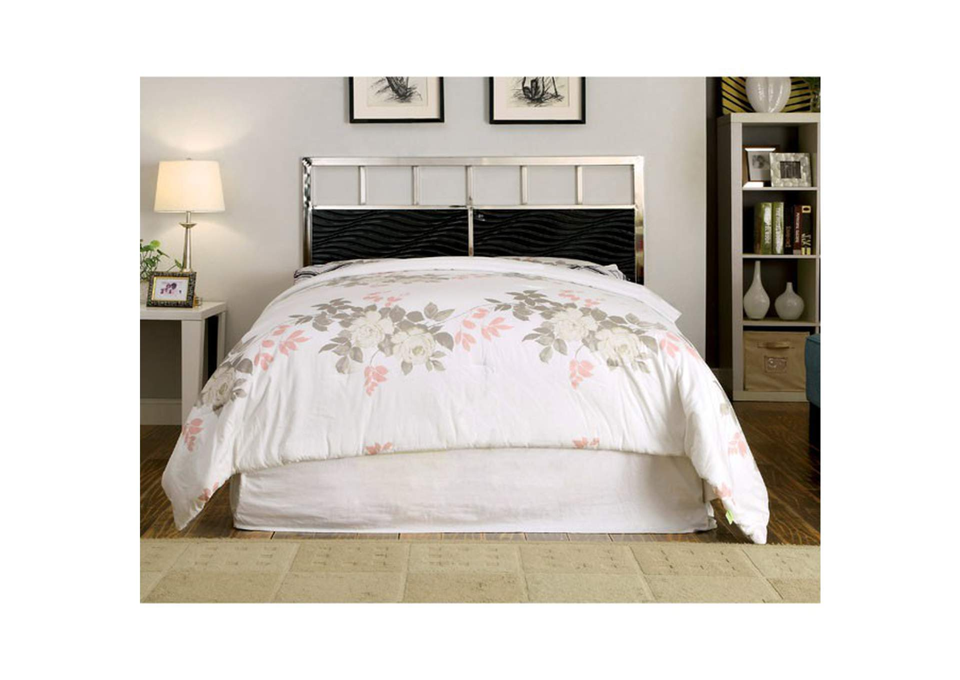 Calvin Black Queen Panel Bed,Furniture of America