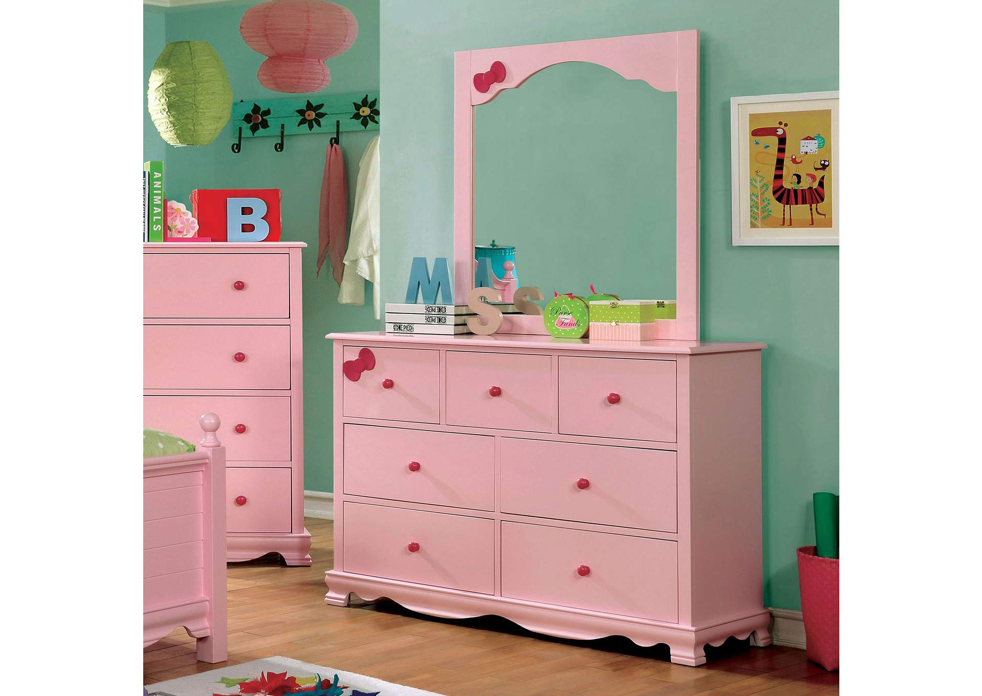 Dani Pink Dresser,Furniture of America