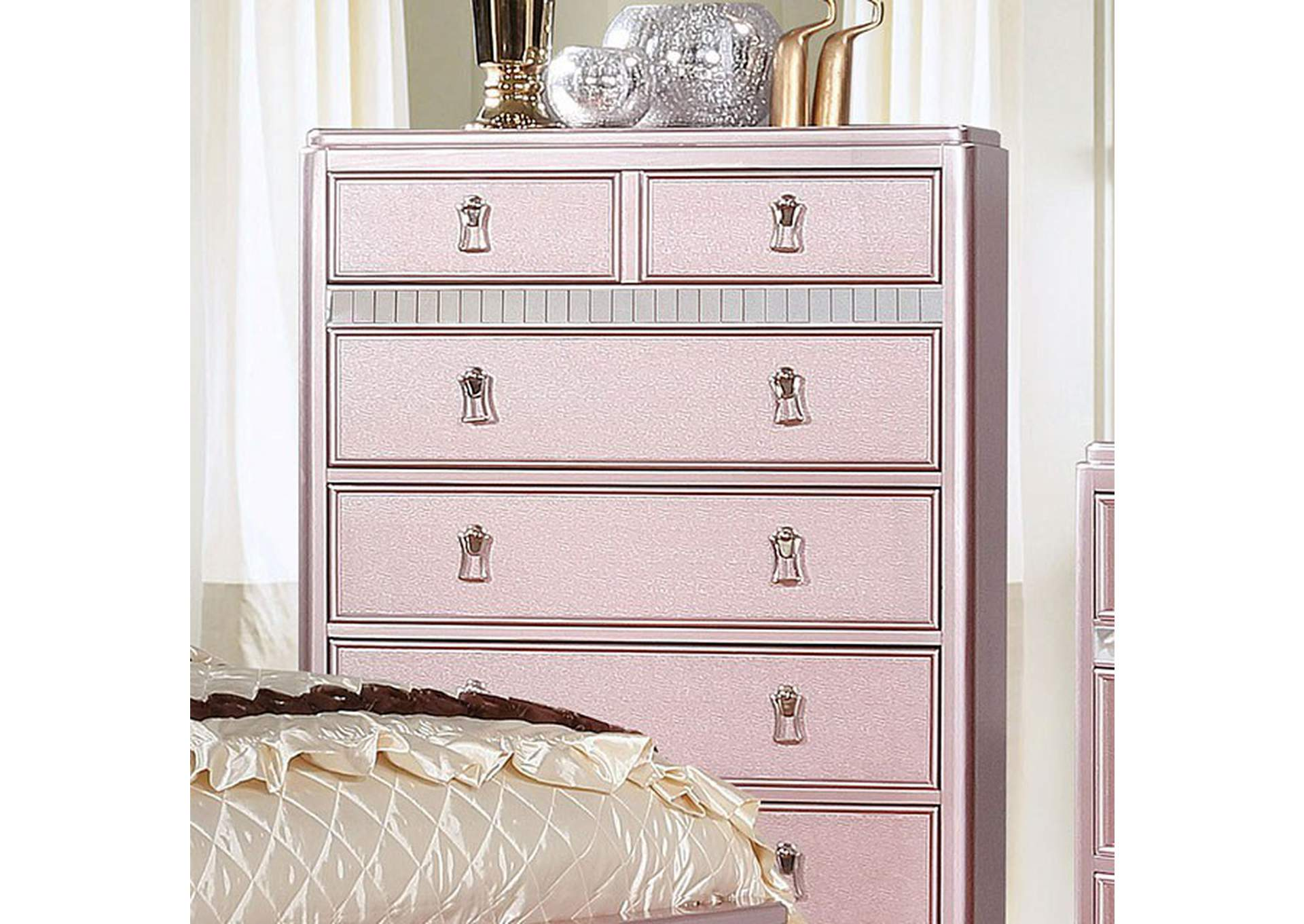 Avior Rose Gold Chest,Furniture of America