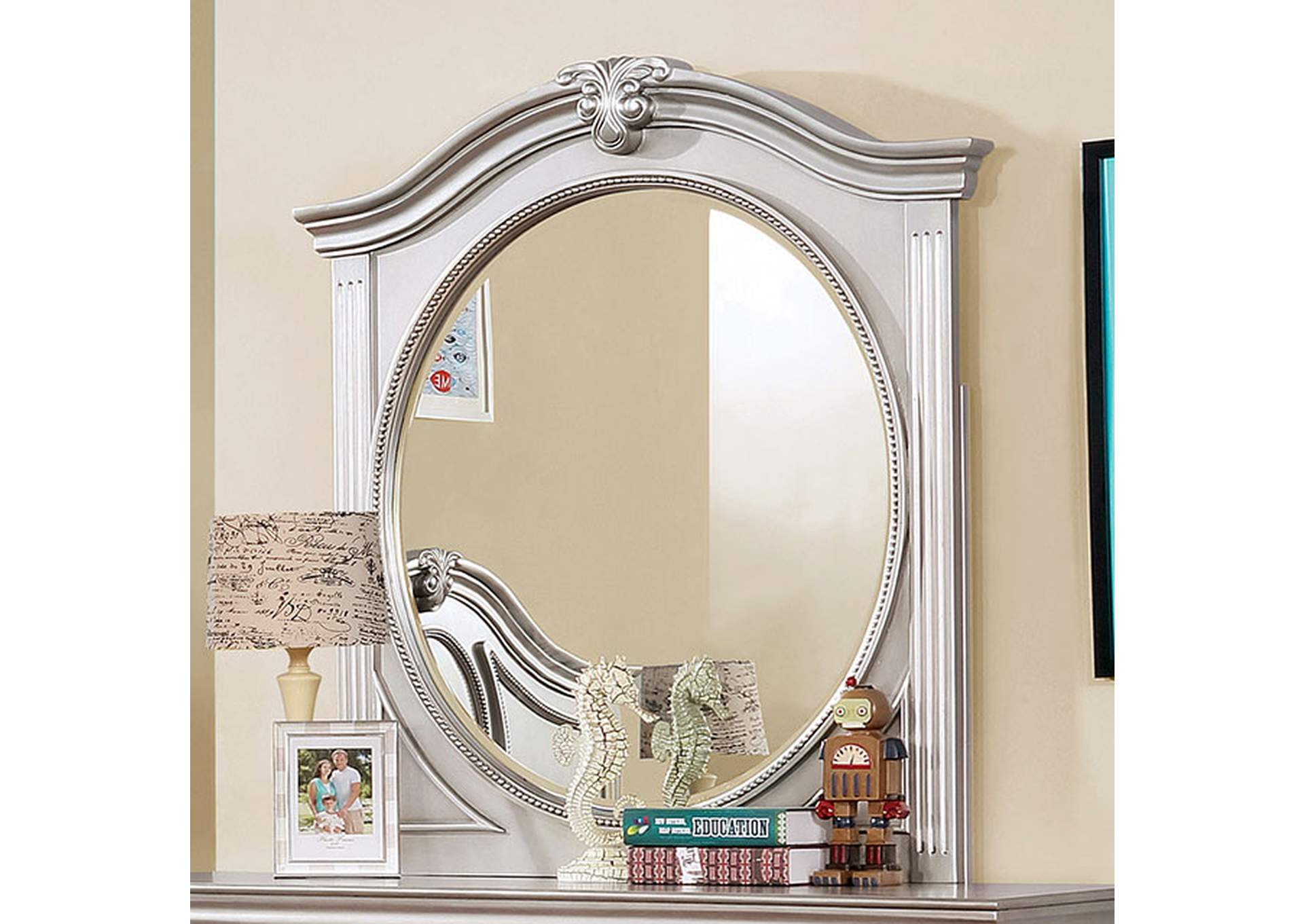 Claudia Silver Gray Mirror,Furniture of America