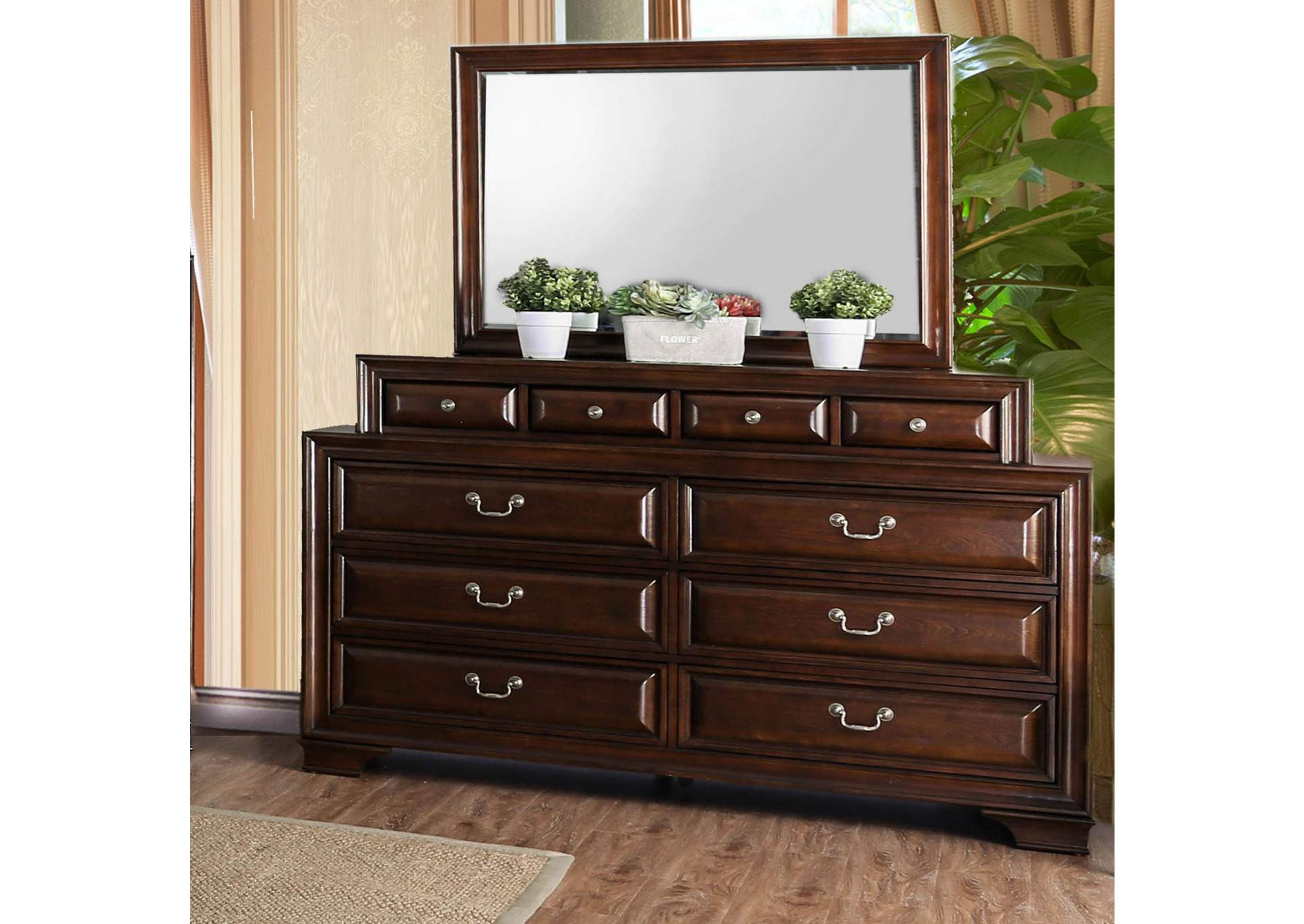 Brandt Brown Cherry Dresser,Furniture of America