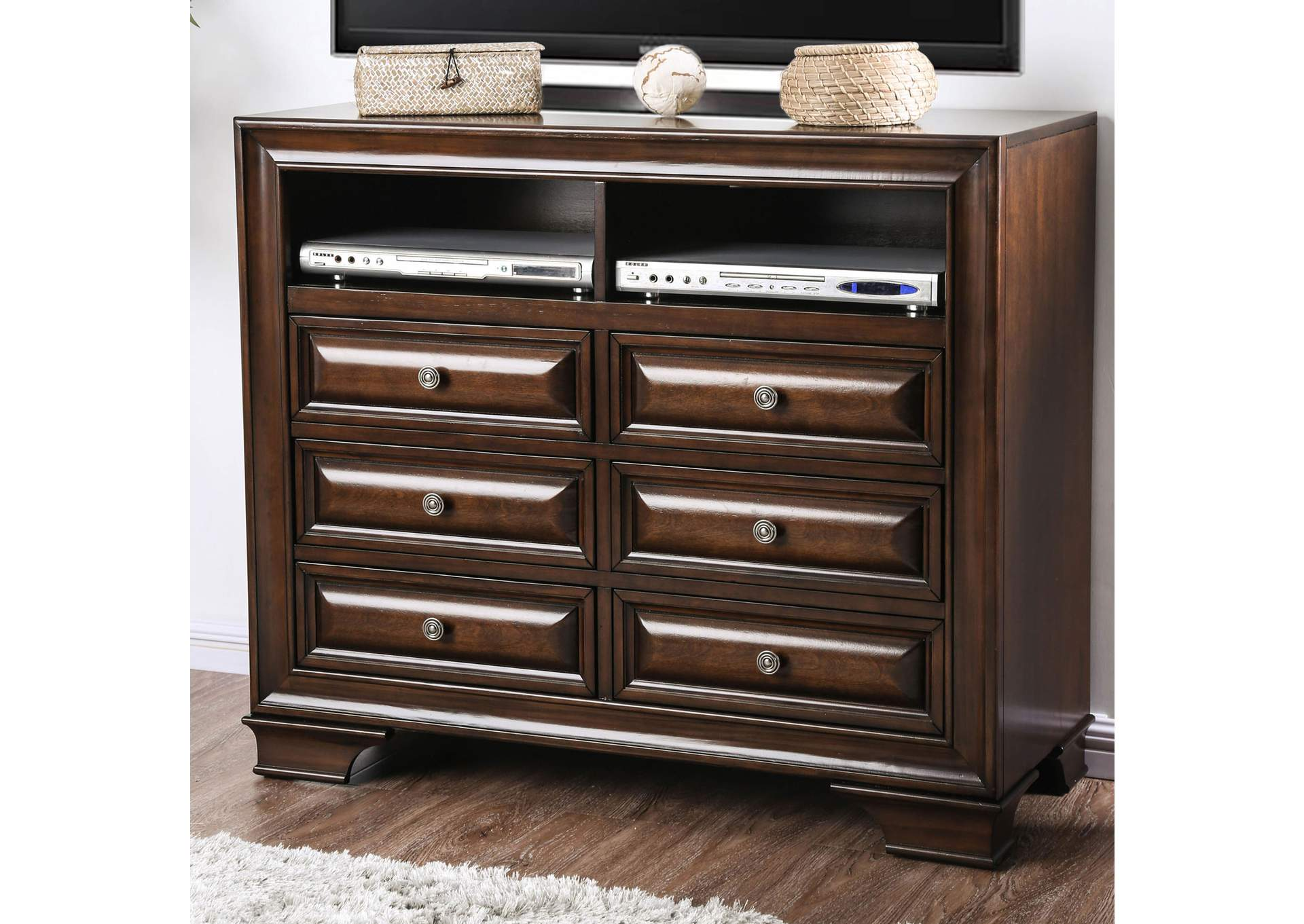 Brandt Brown Cherry Media Chest,Furniture of America