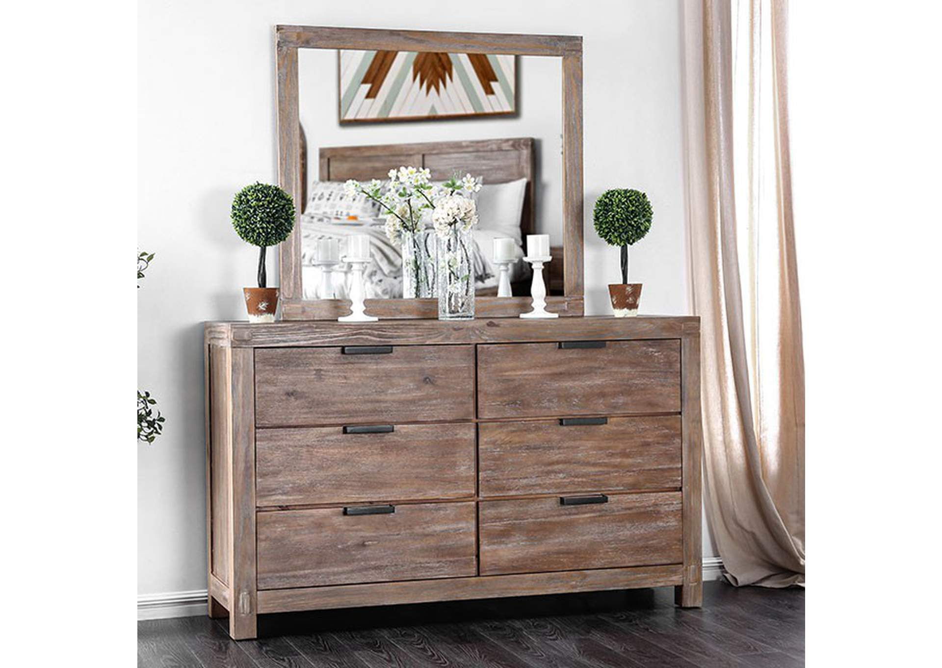 Wynton Weathered Light Oak Dresser,Furniture of America