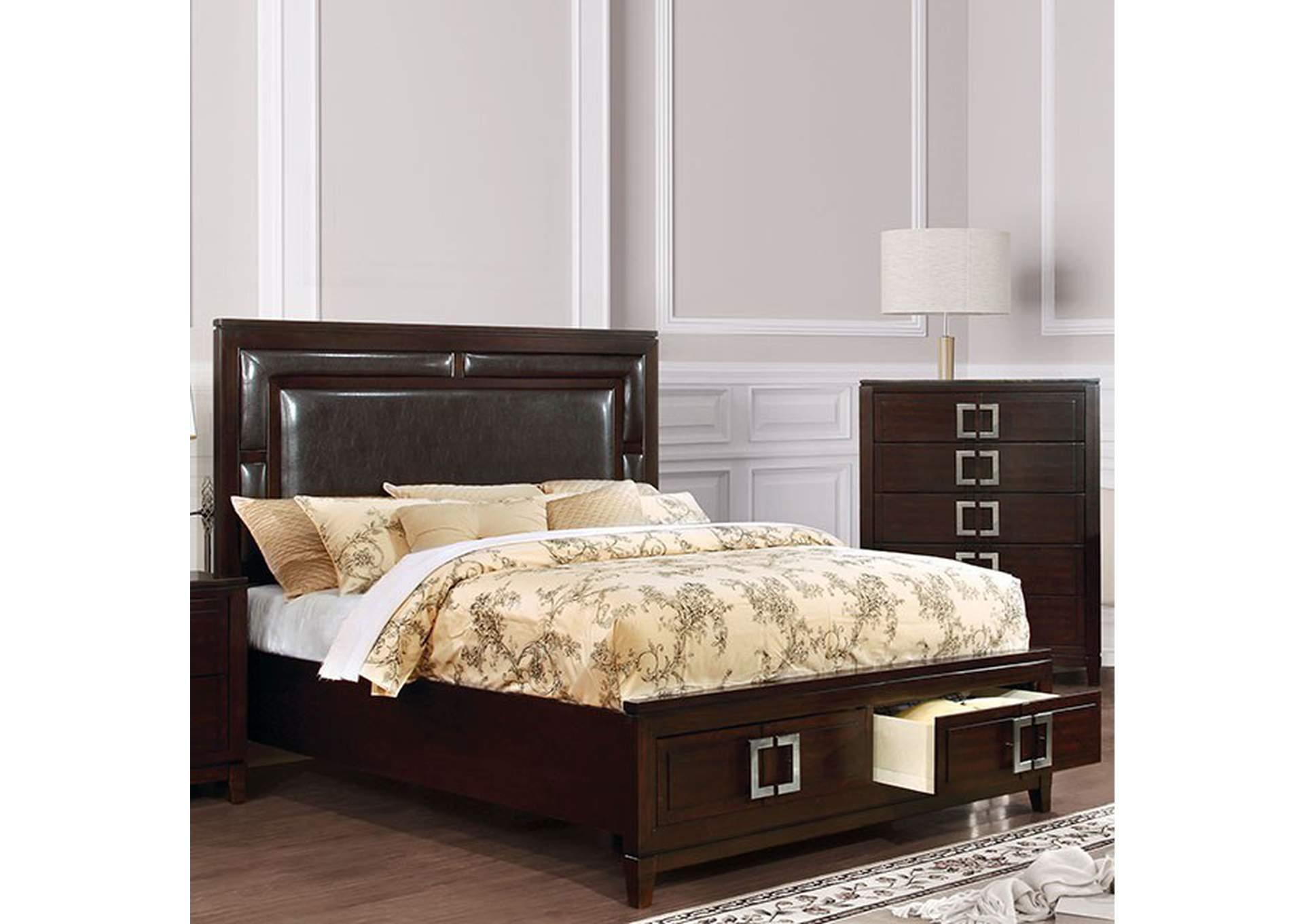 Balfour Brown Queen Storage Bed,Furniture of America