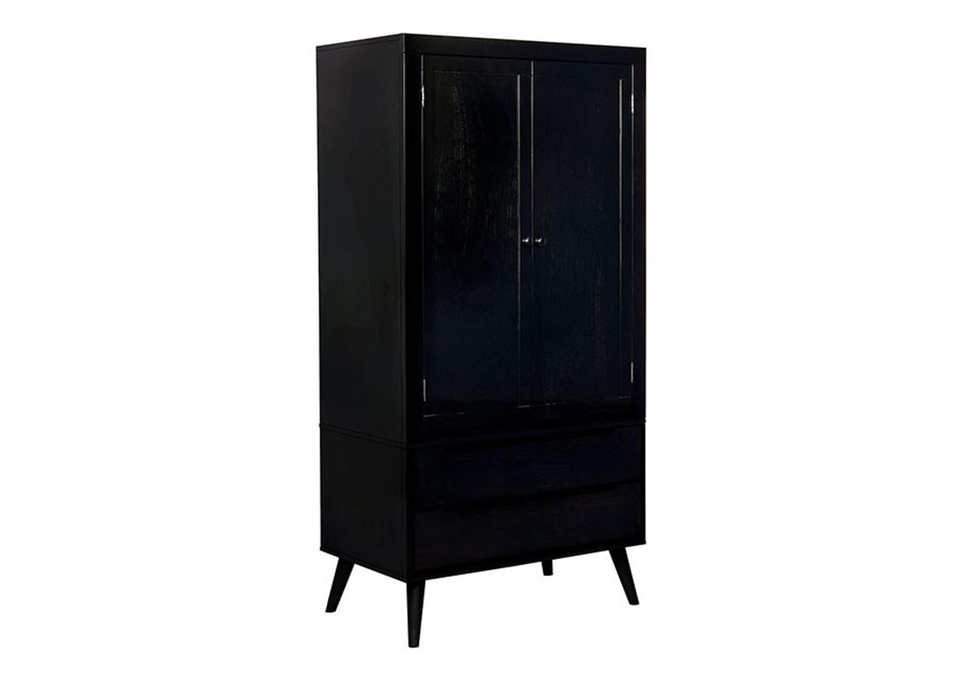 Lennart Black Armoire,Furniture of America