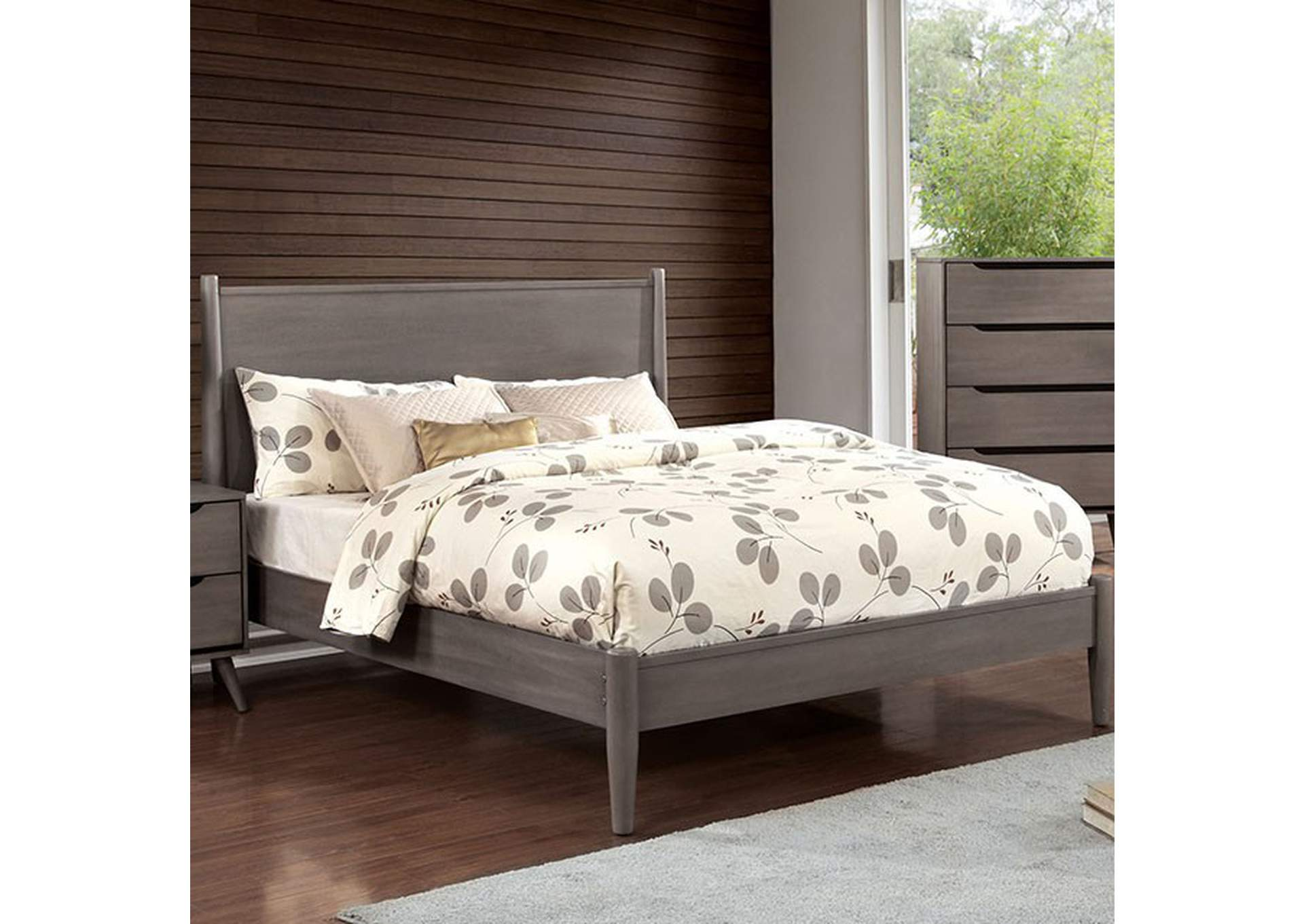 Lennart Gray Queen Bed,Furniture of America