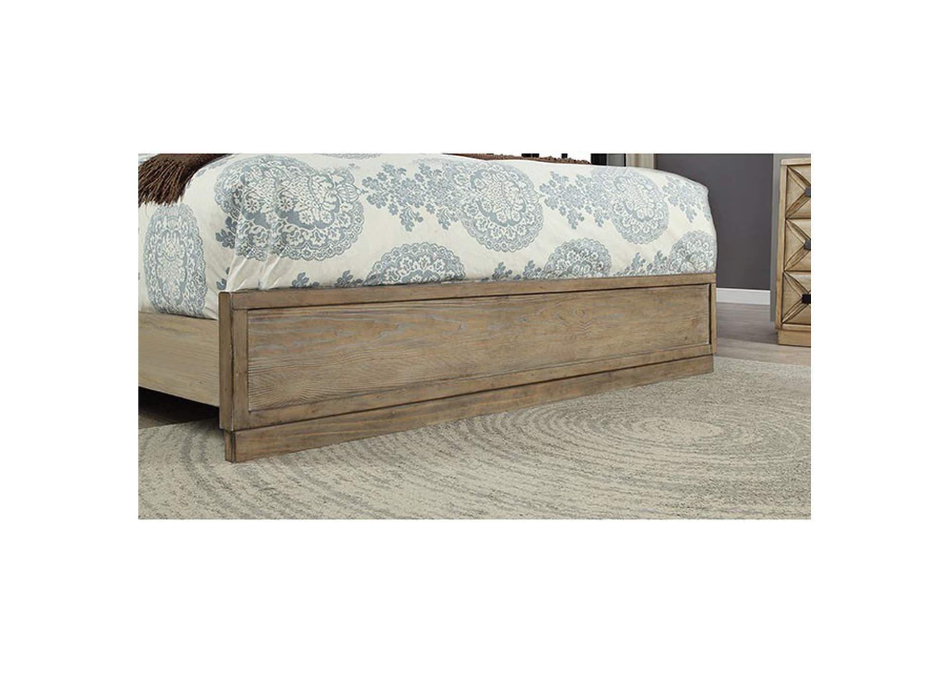 Markos Weathered Light Oak California King Bed,Furniture of America