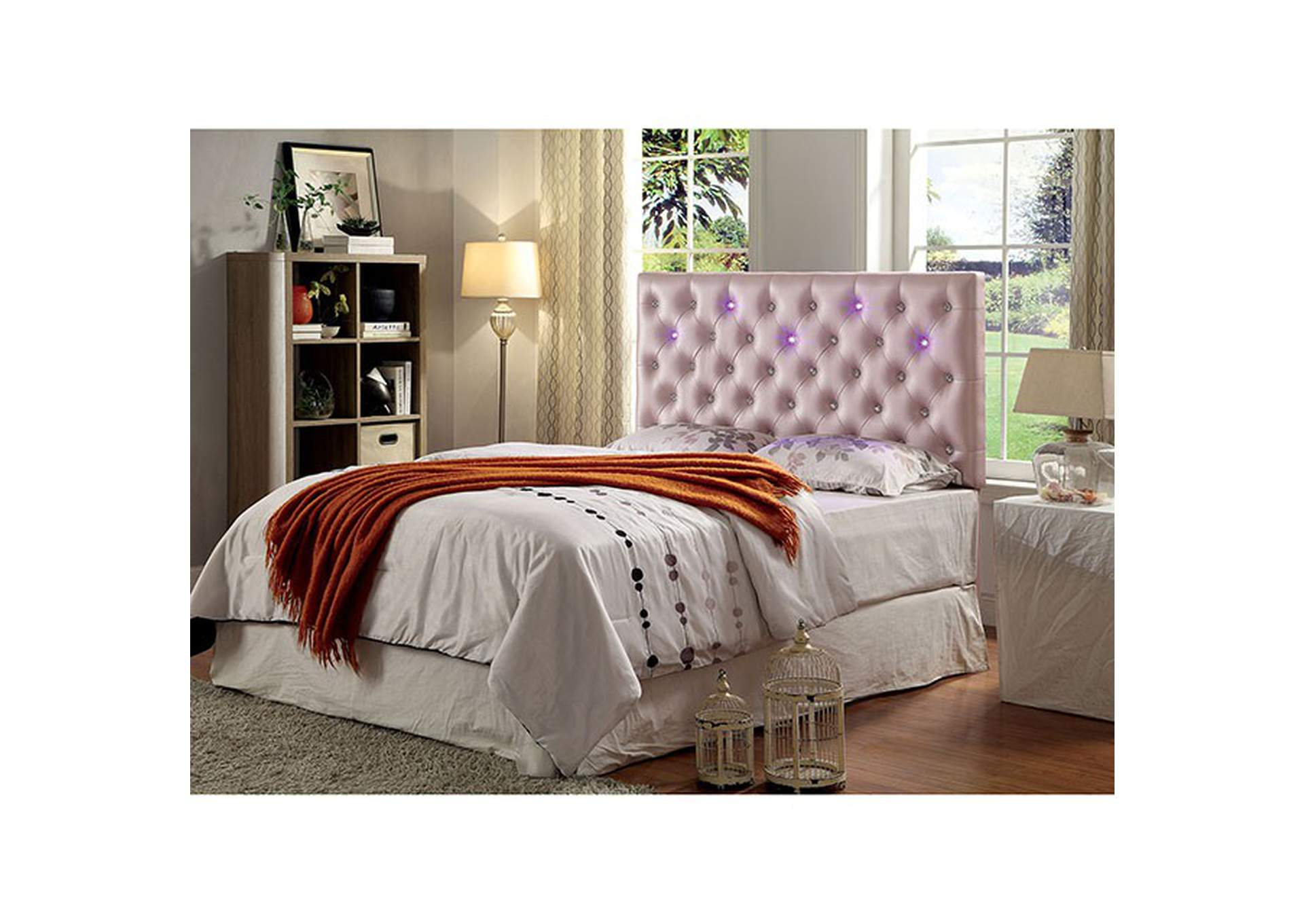 Aldebaran Pink Upholstered King Headboard Best Buy Furniture And Mattress