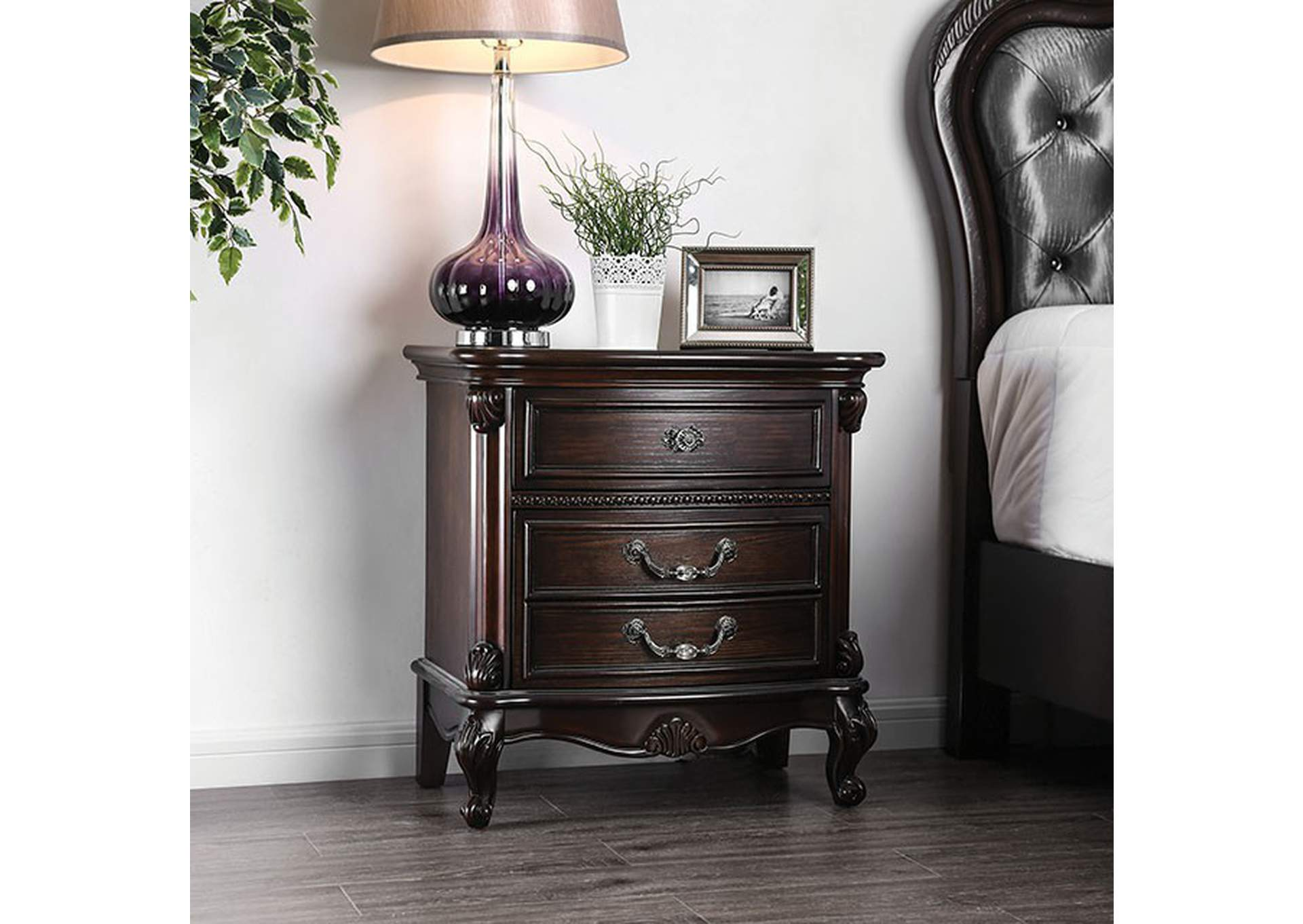 Bethesda Espresso Nightstand,Furniture of America