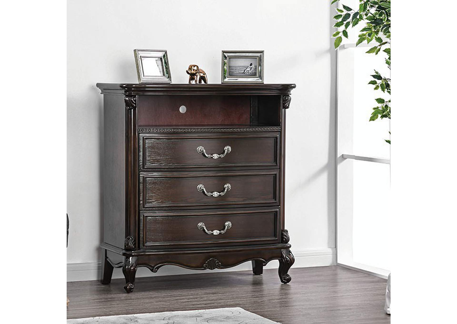 Bethesda Espresso Media Chest,Furniture of America
