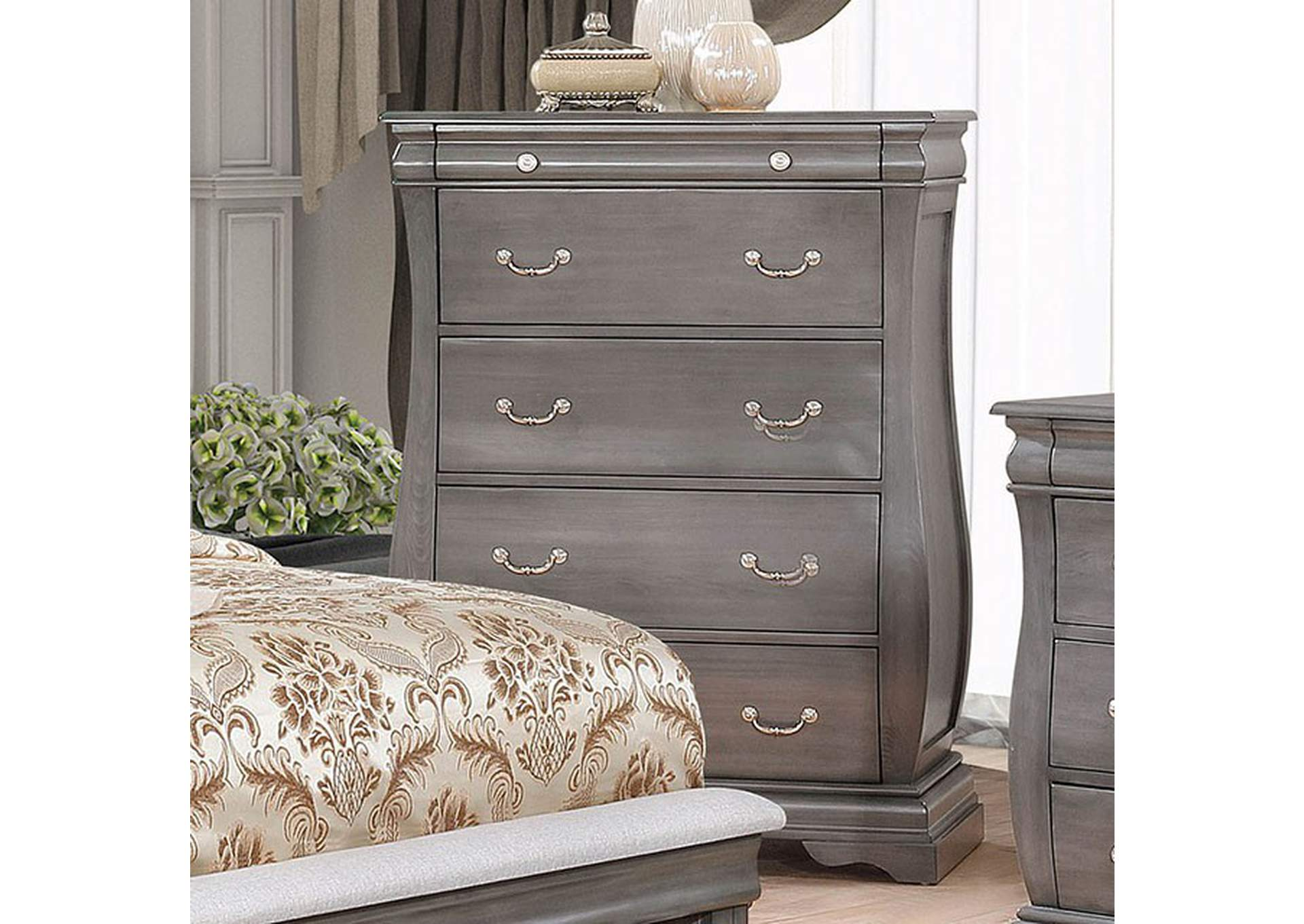 Merida Gray Chest,Furniture of America