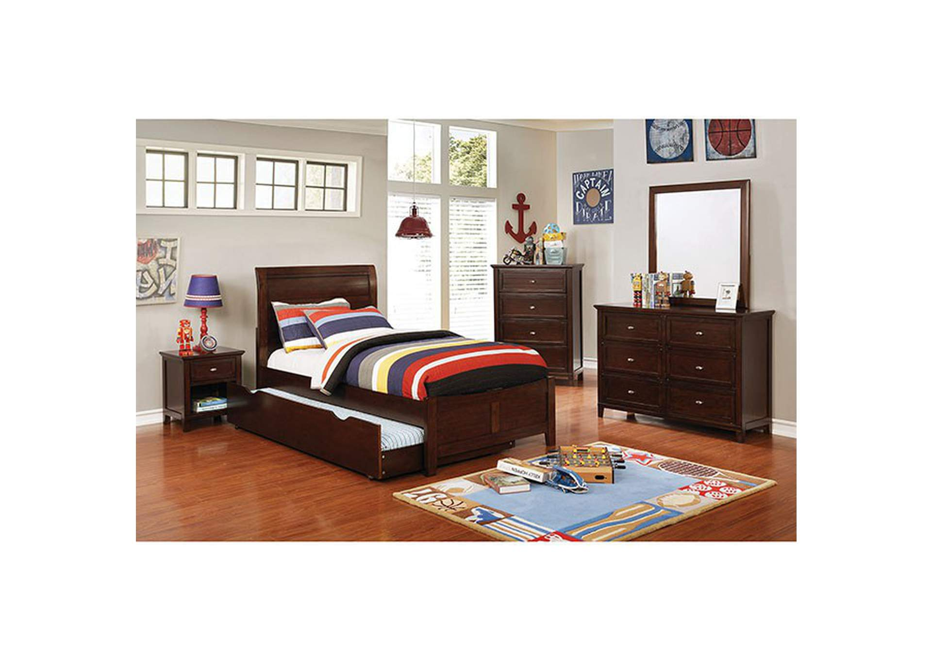 Brogan Brown Cherry Full Bed,Furniture of America