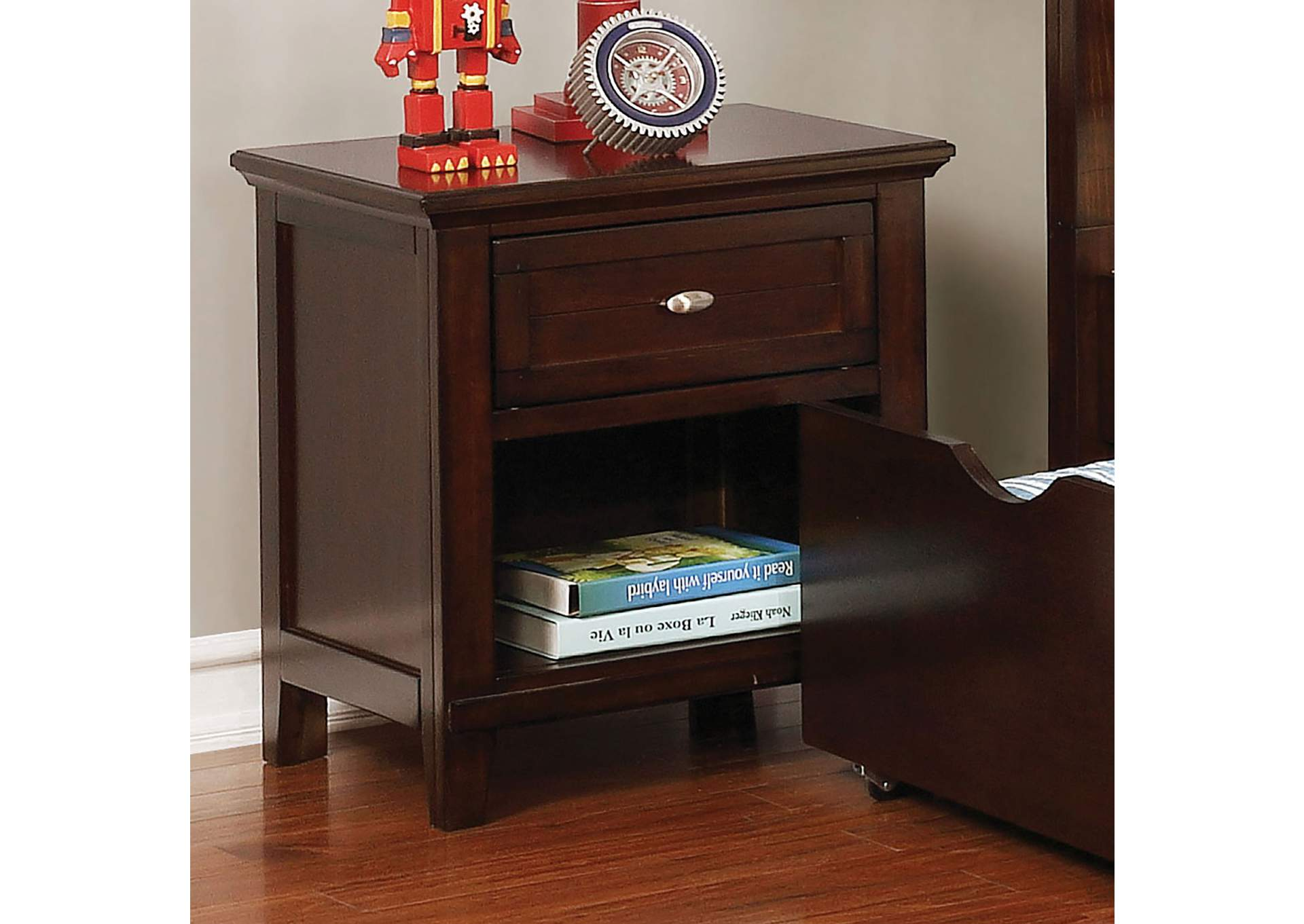 Brogan Brown Cherry Night Stand,Furniture of America