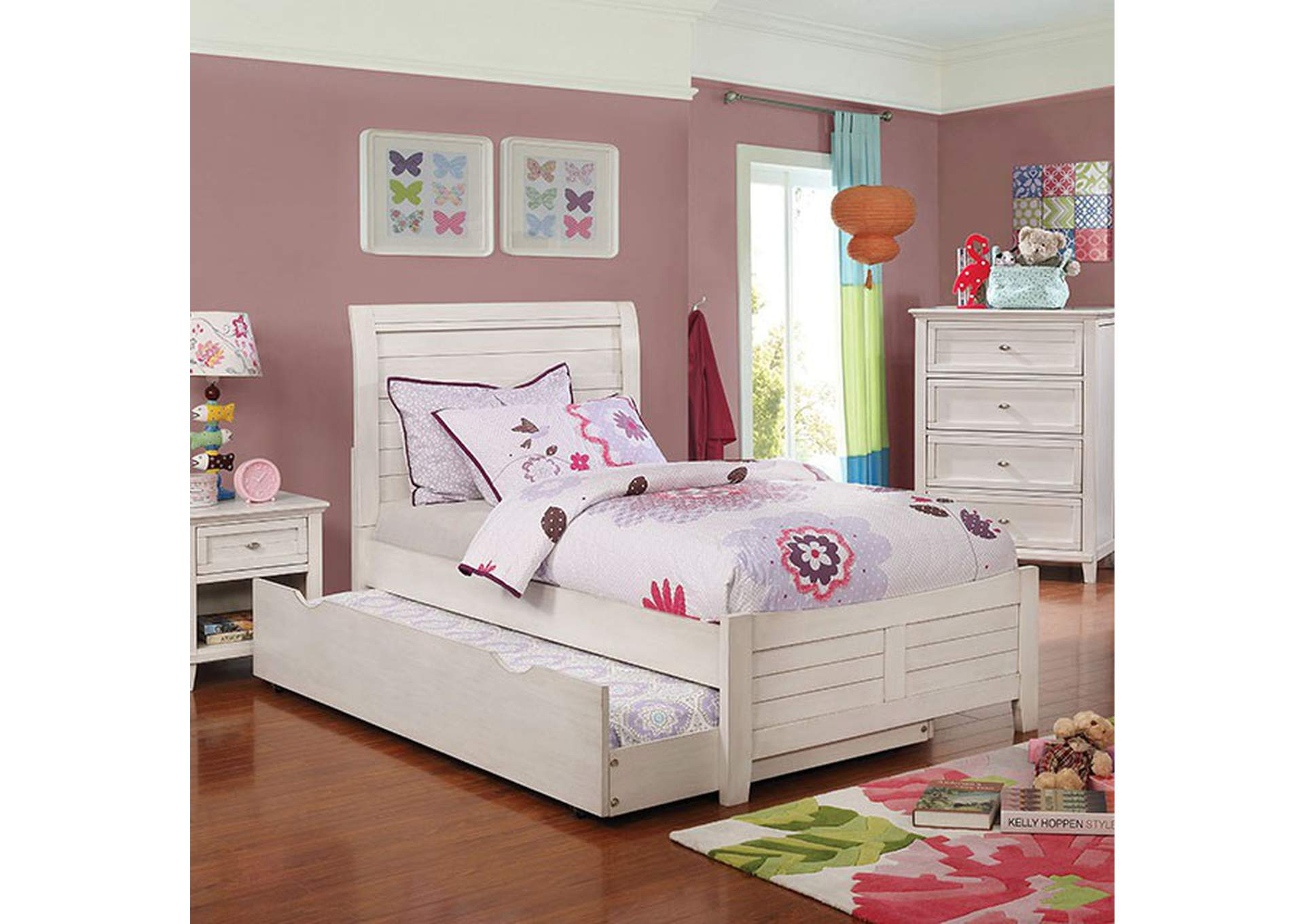 Brogan Antique White Full Bed,Furniture of America