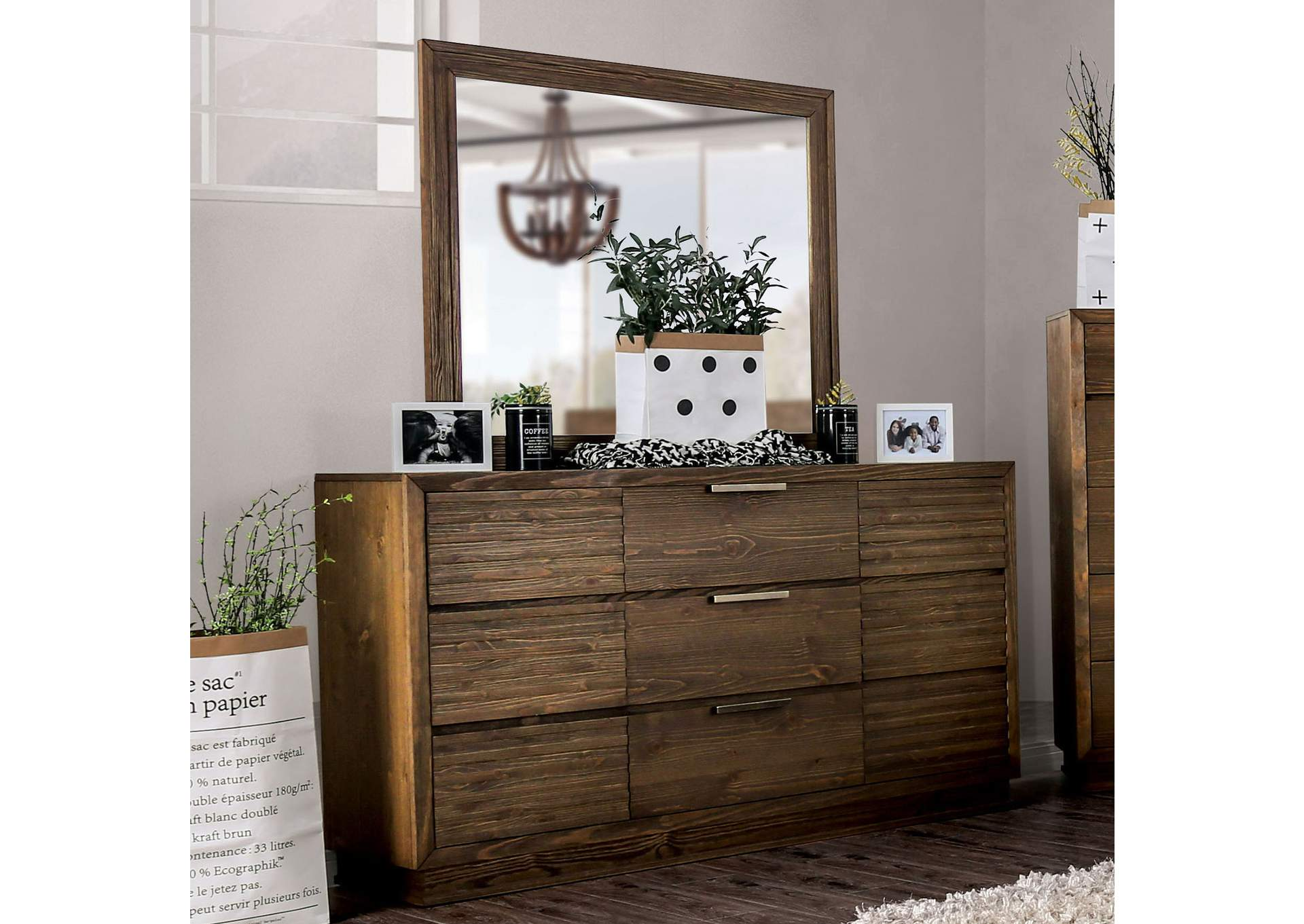 Tolna Walnut Dresser,Furniture of America
