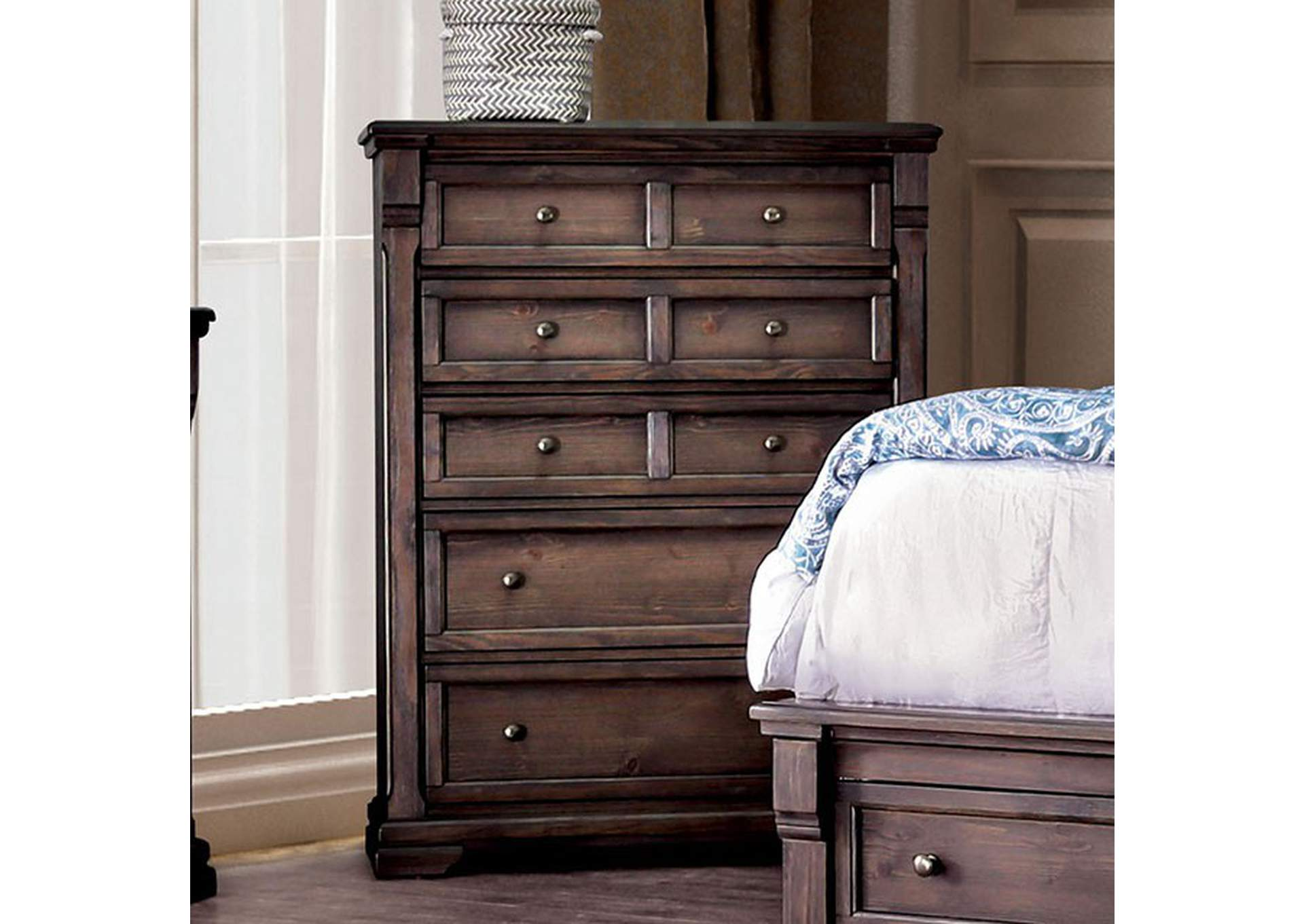 Amadora Walnut Chest,Furniture of America