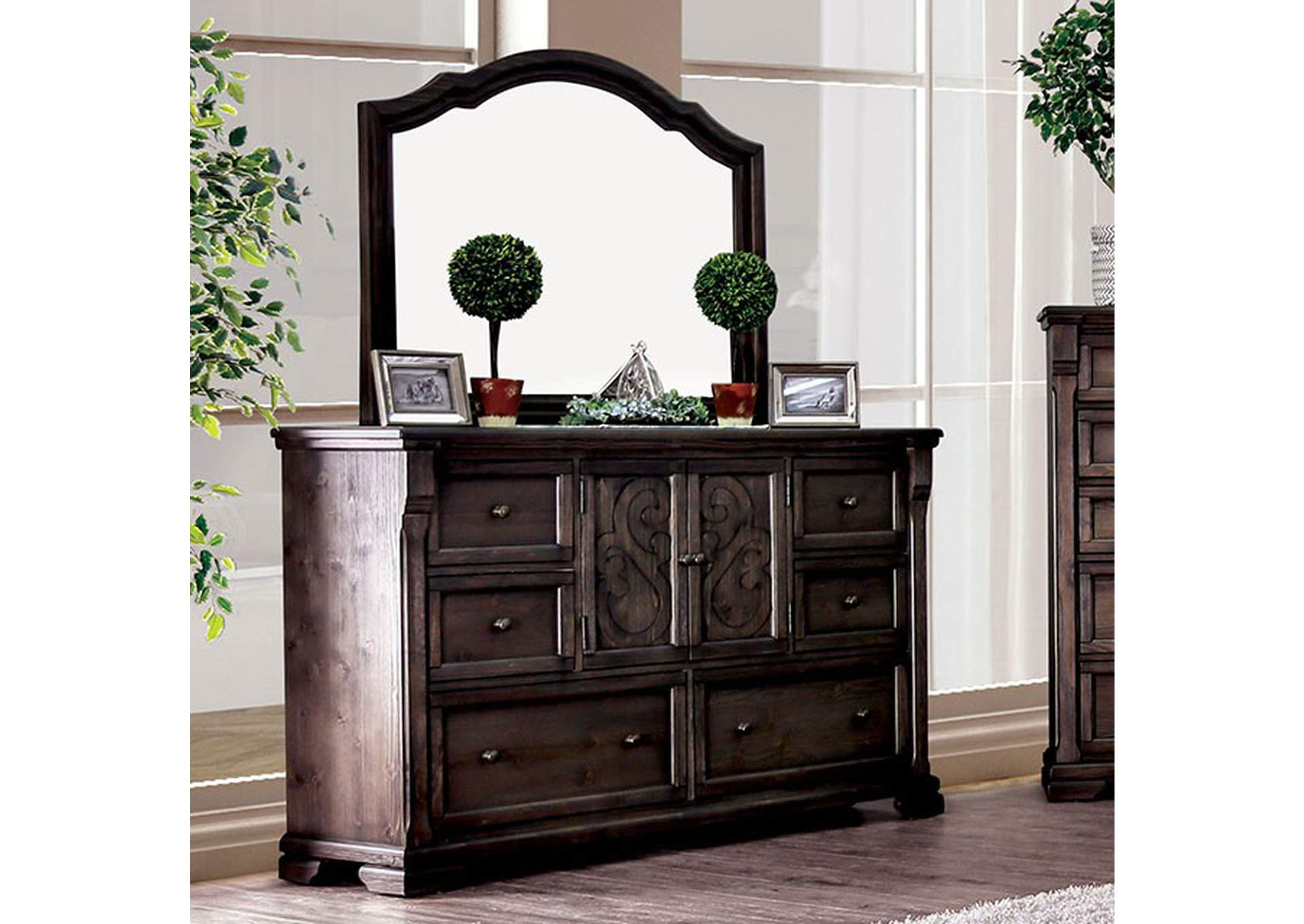 Amadora Walnut Dresser,Furniture of America