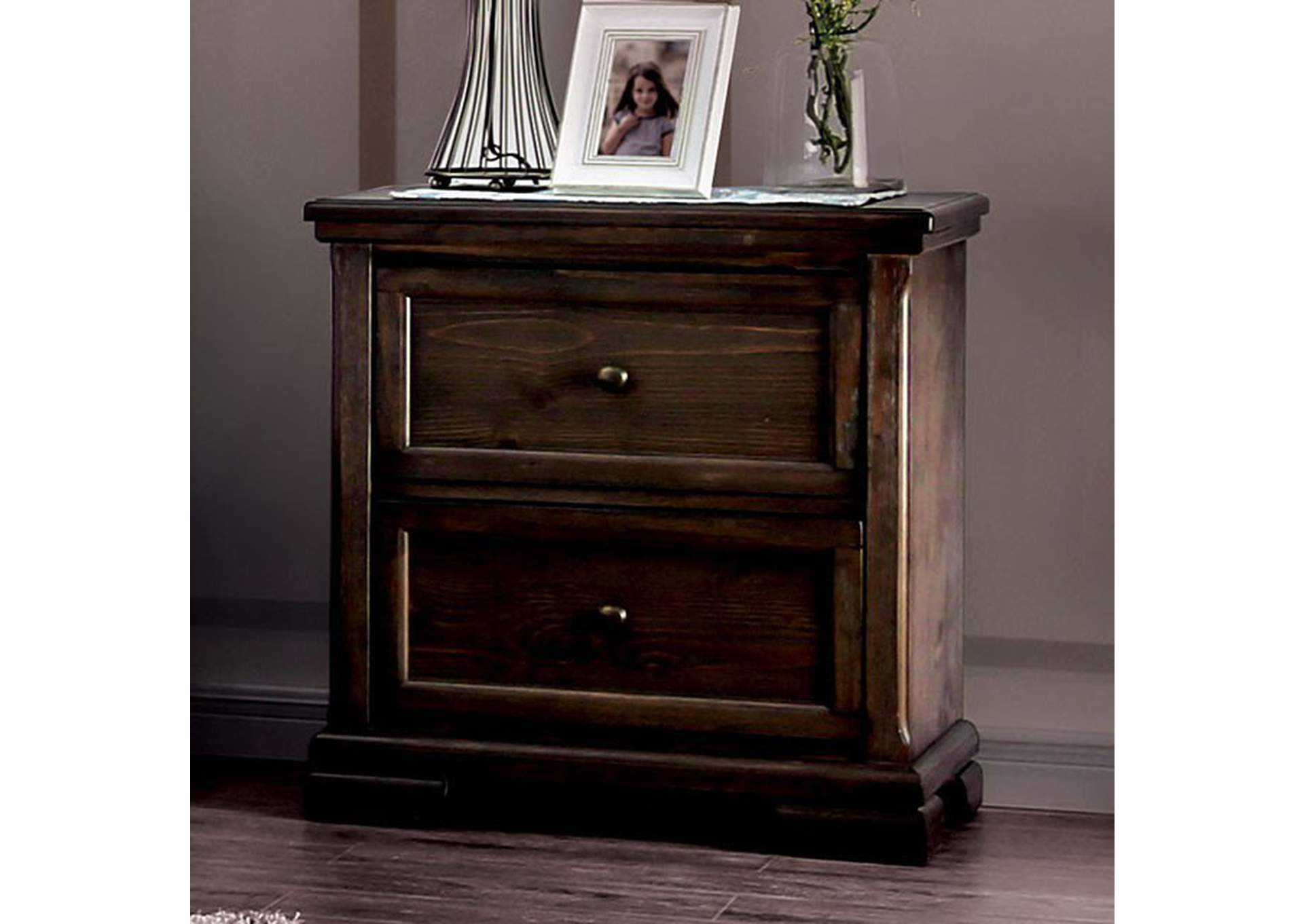 Amadora Walnut Night Stand,Furniture of America