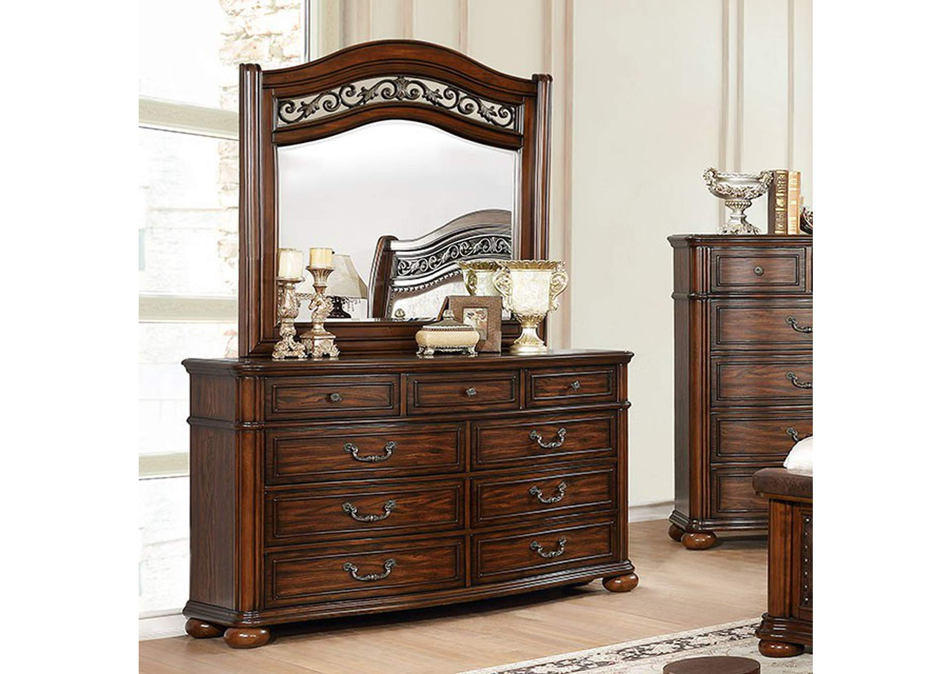 Janiya Brown Cherry Dresser,Furniture of America
