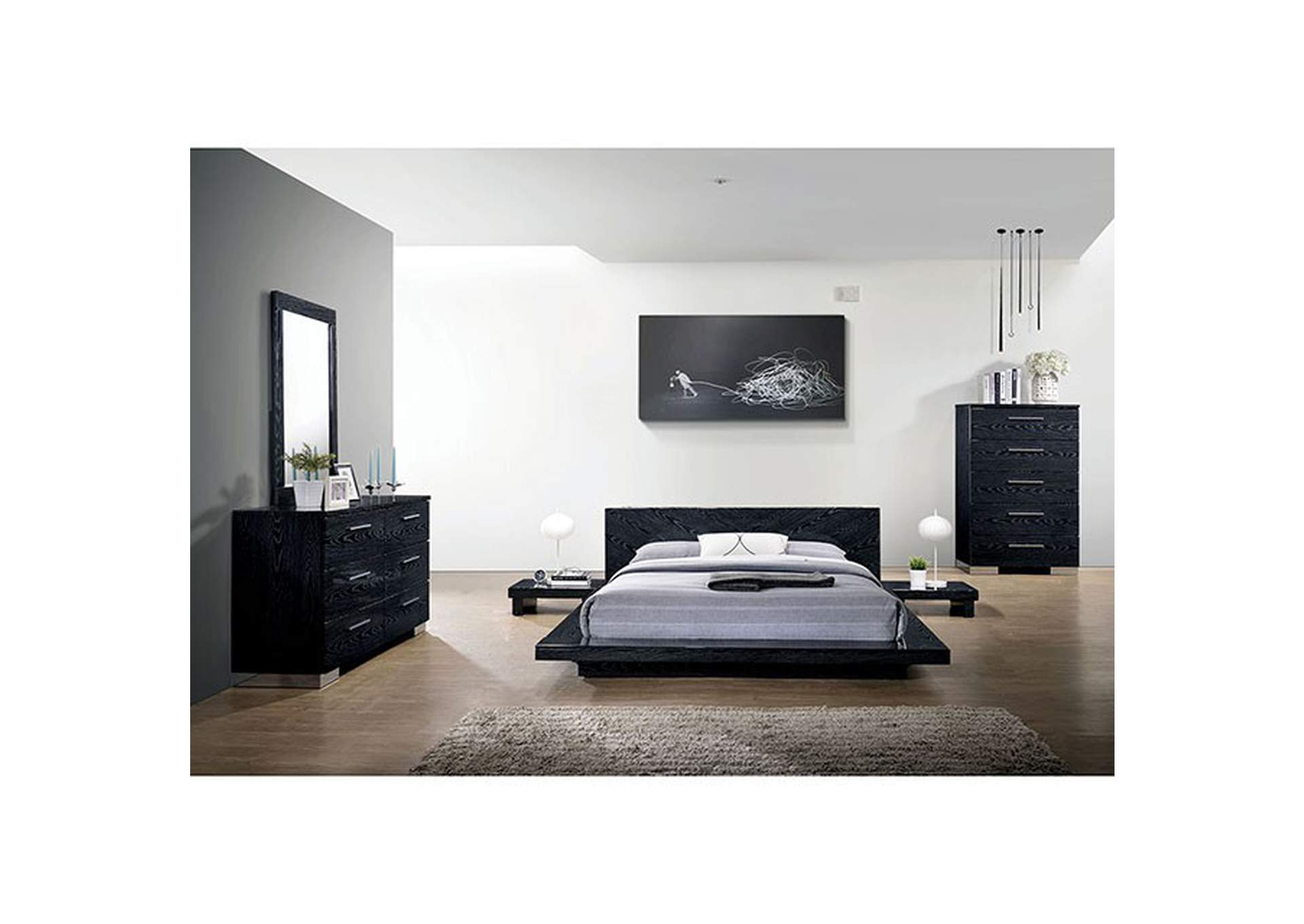 Christie Black Lacquer Dresser,Furniture of America