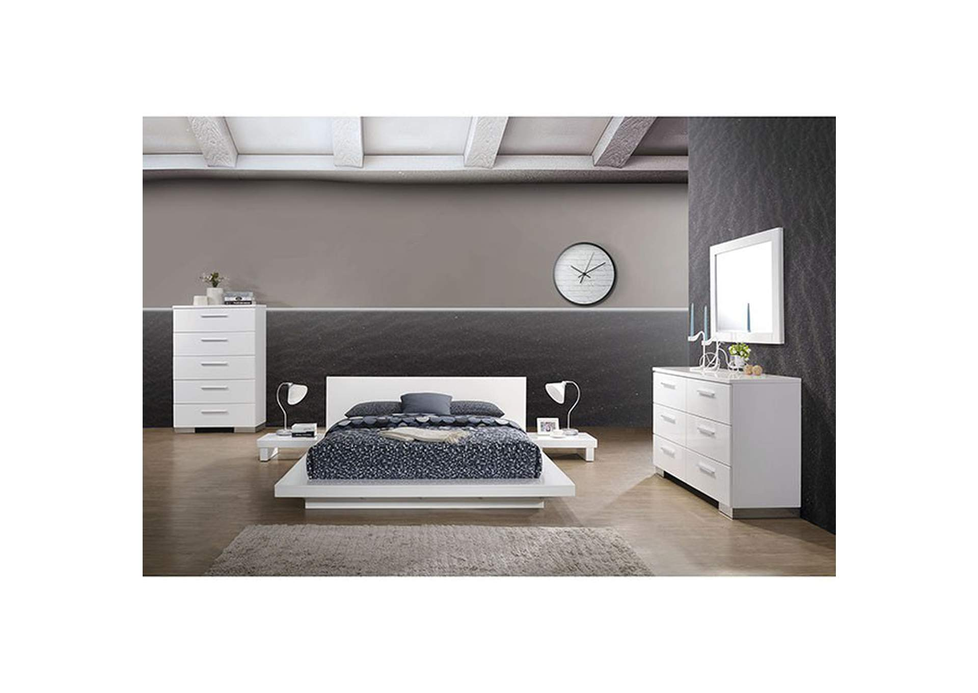 Christie White California King Platform Bed,Furniture of America