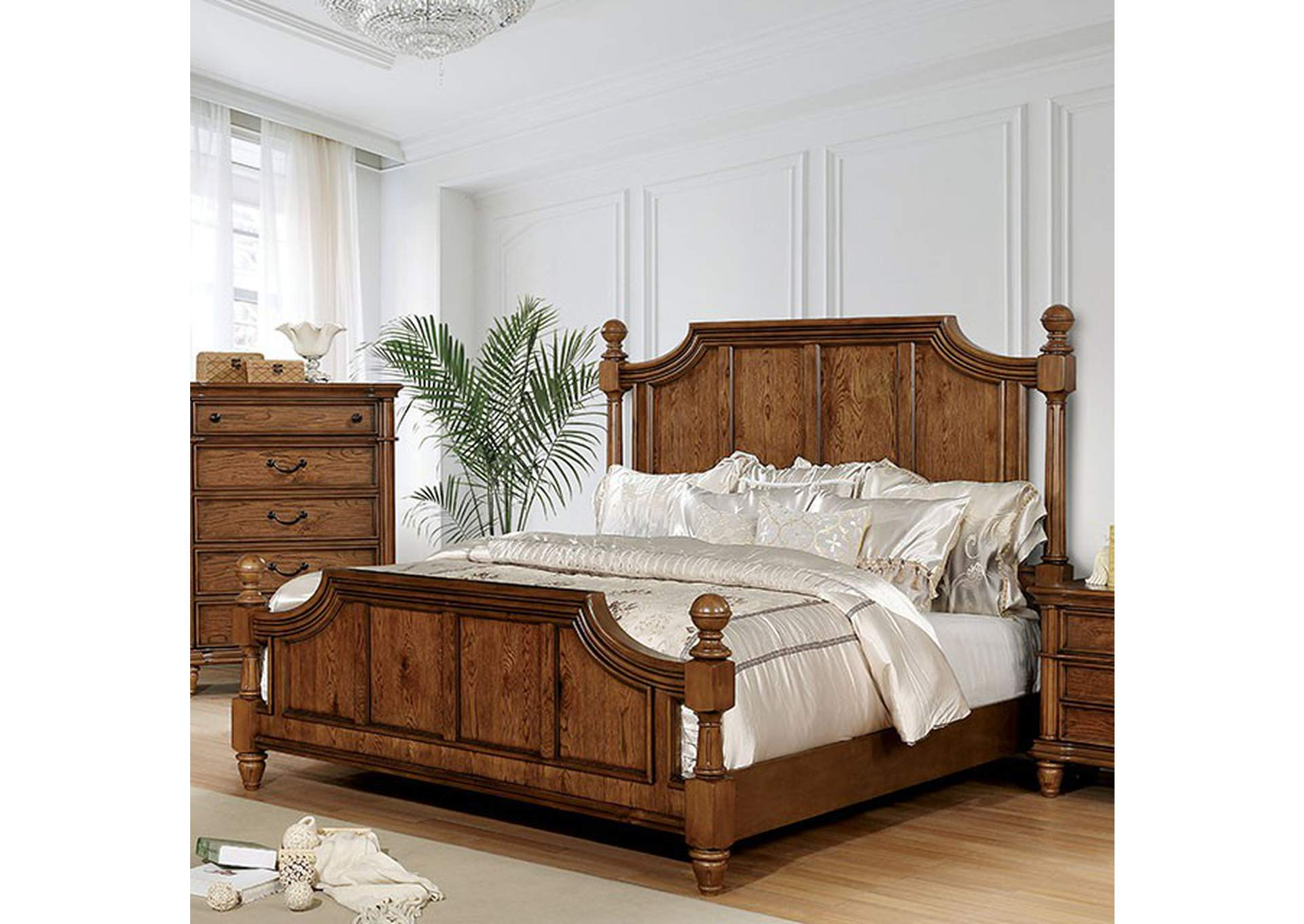 Mantador Dark Oak California King Bed,Furniture of America