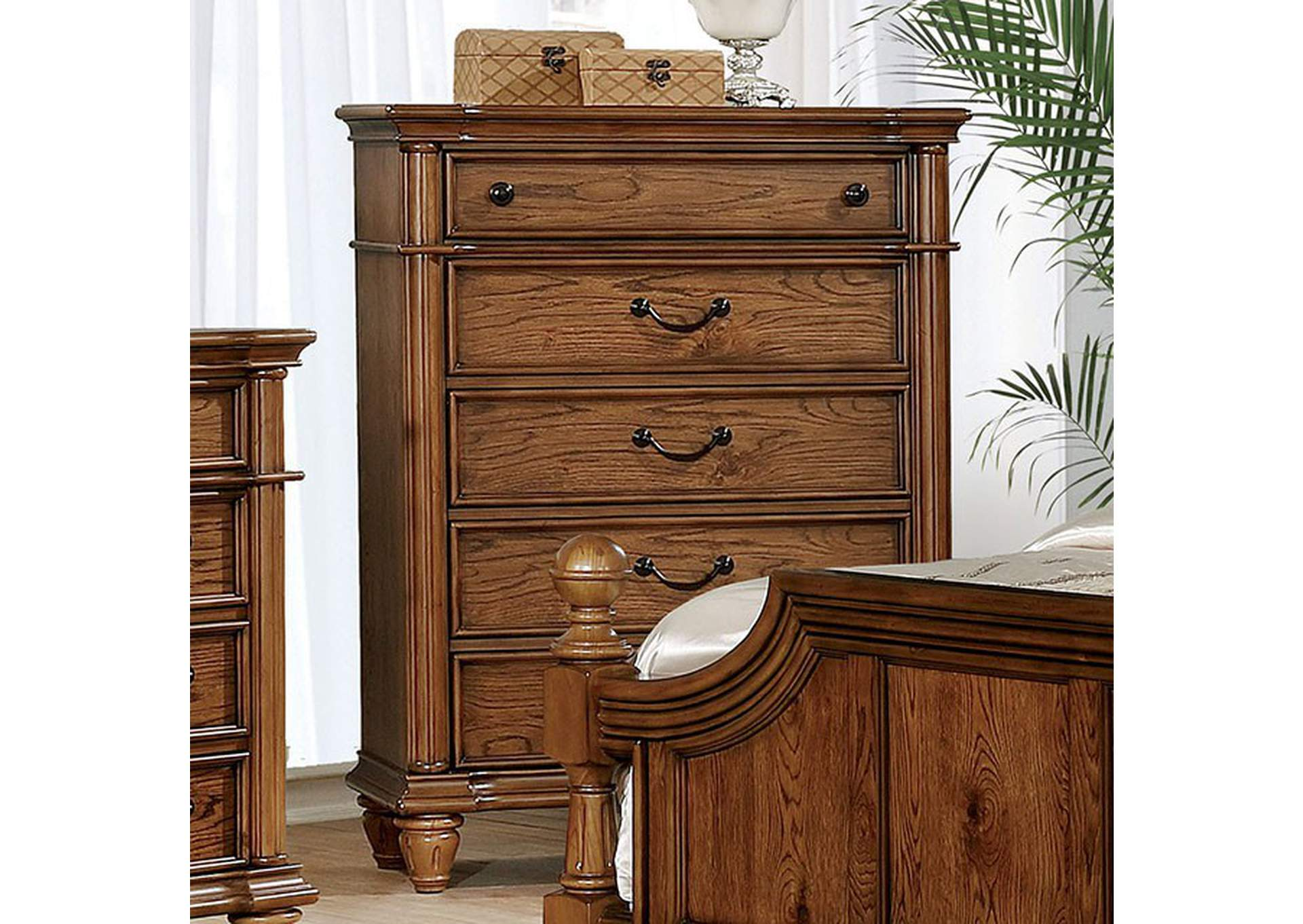 Mantador Dark Oak Chest,Furniture of America
