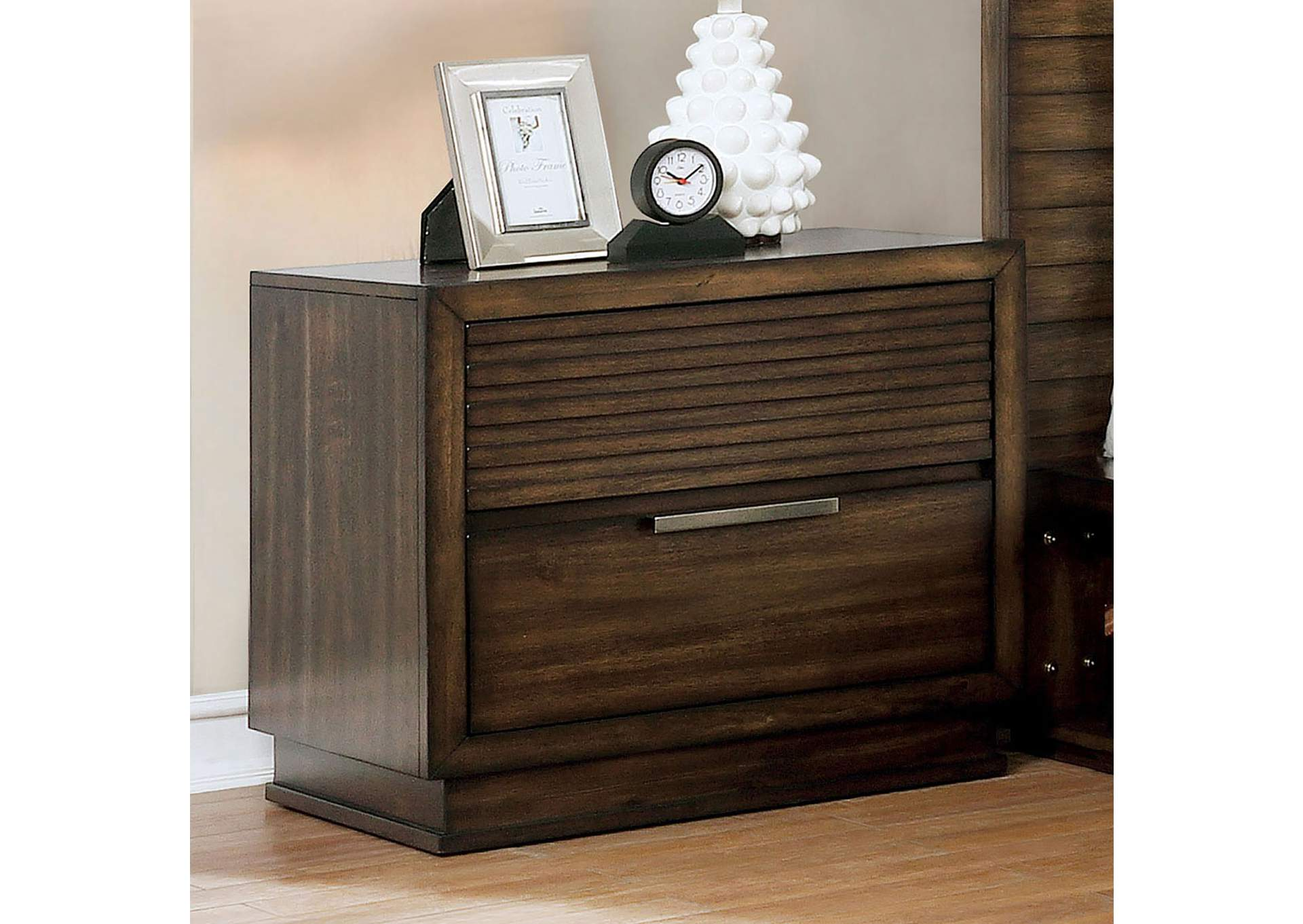Tolna Brown Nightstand,Furniture of America