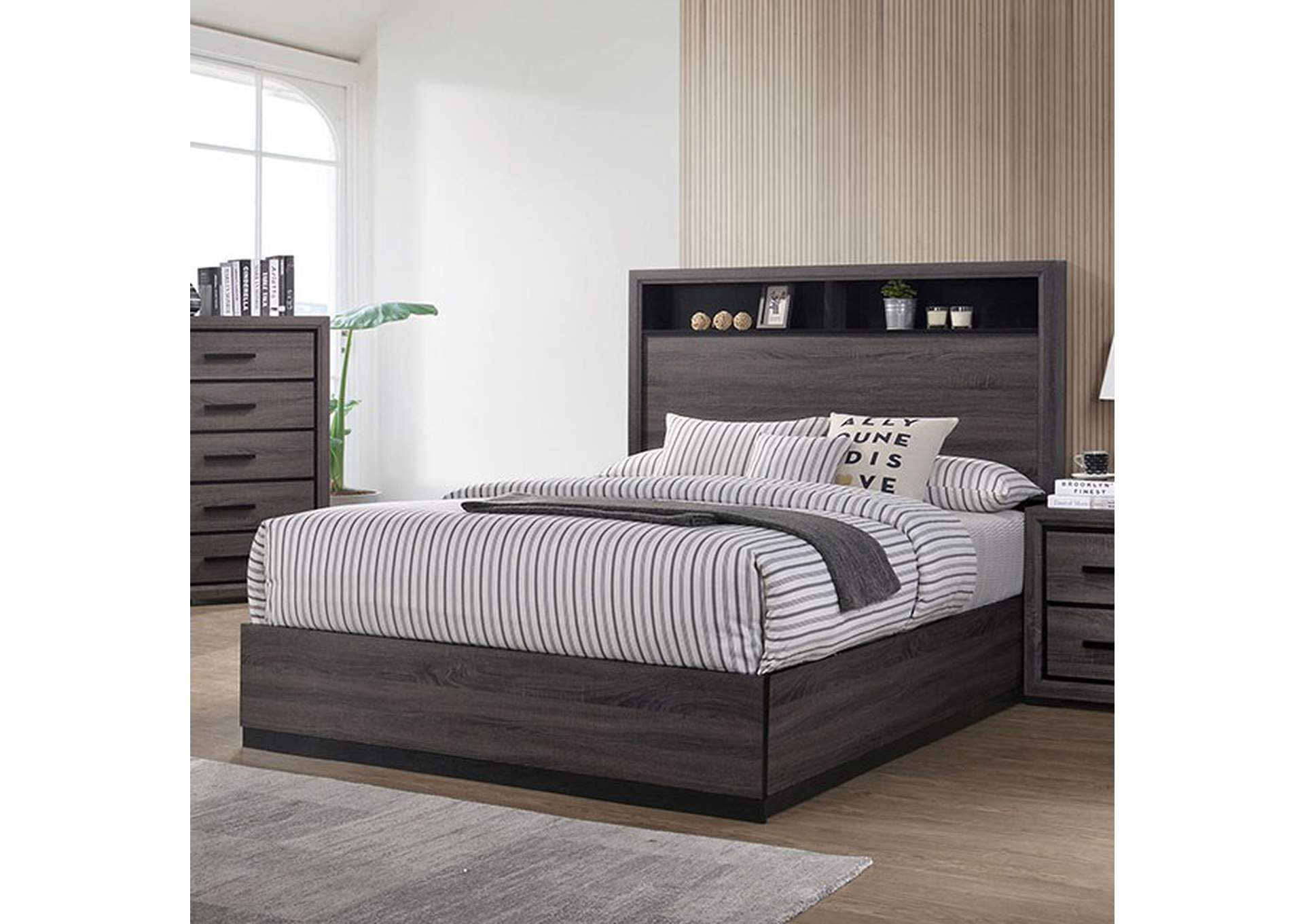Conwy Gray Queen Bed,Furniture of America