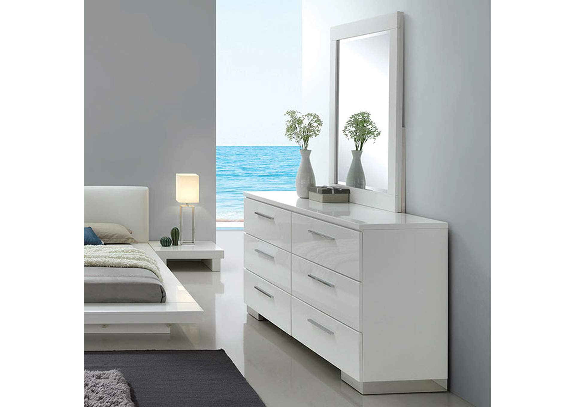 Christie White Dresser,Furniture of America