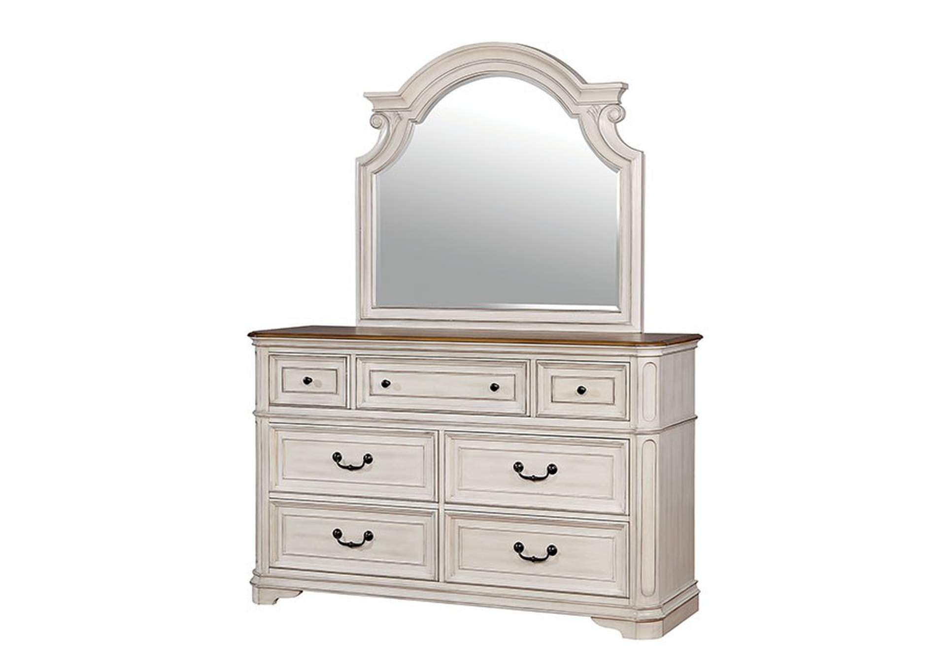 Pembroke Antique Whitewash Dresser,Furniture of America