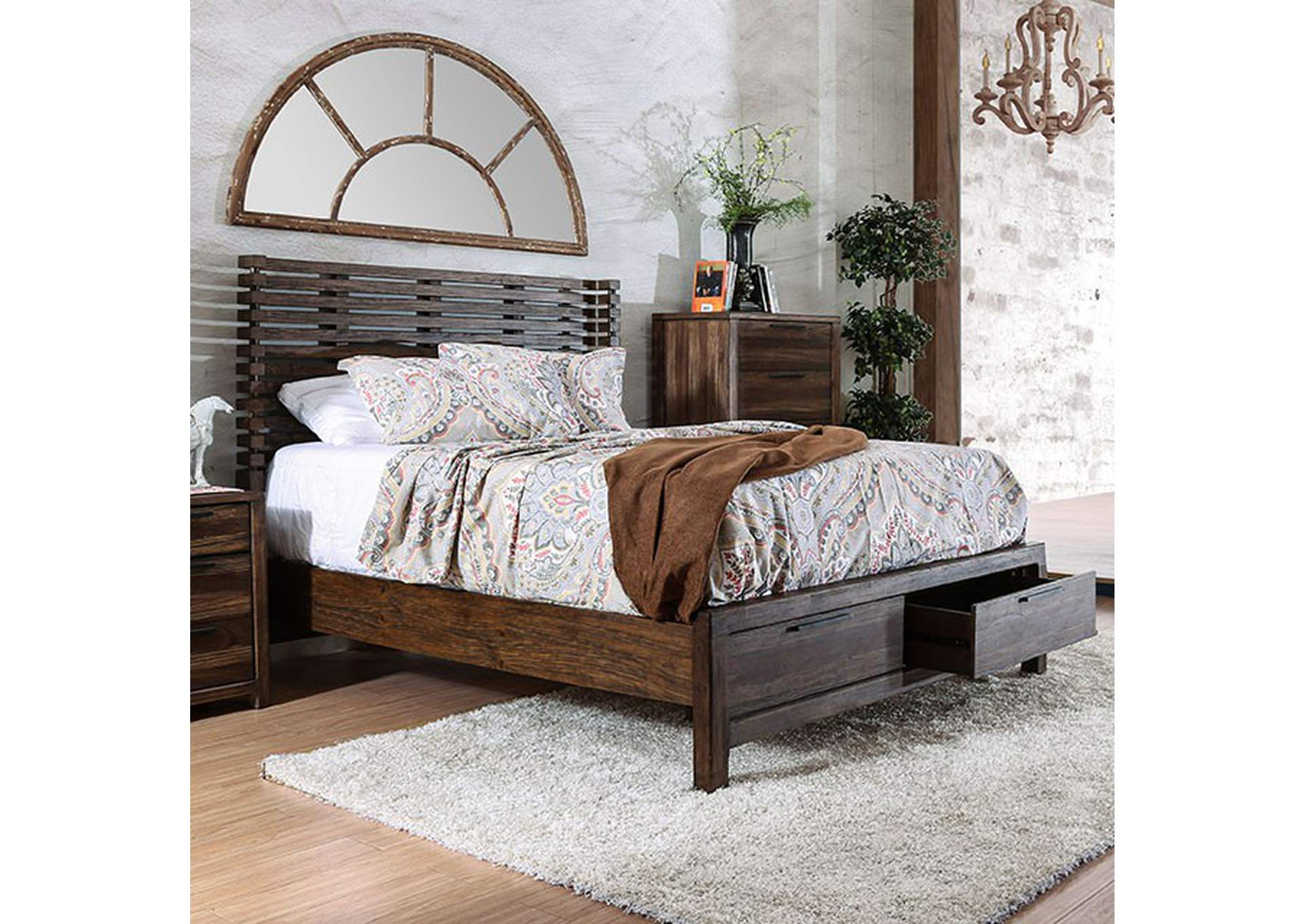 Hankinson Rustic Natural California King Bed Best Buy Furniture And Mattress