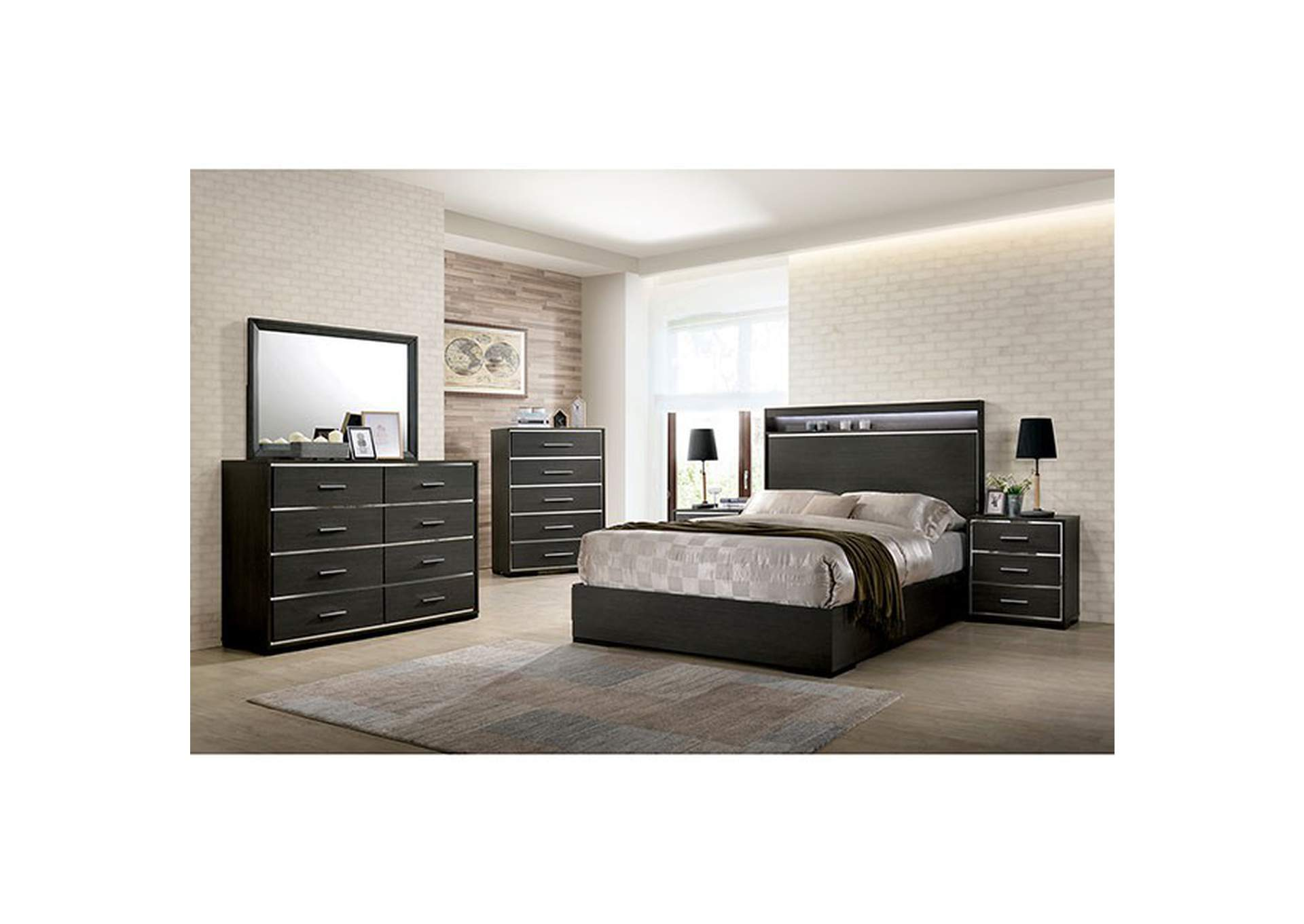 Camryn Warm Gray Queen Bed,Furniture of America