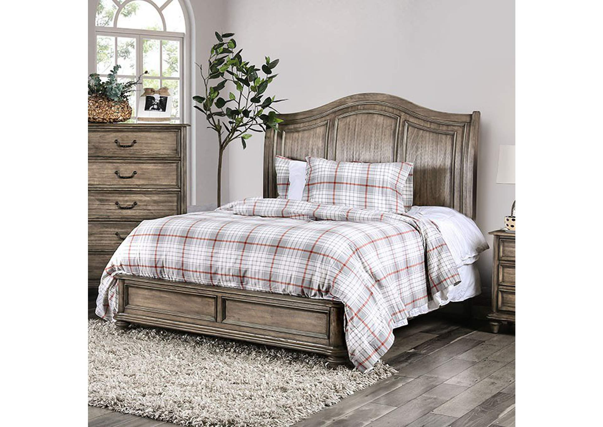 Belgrade Rustic Natural Queen Bed,Furniture of America