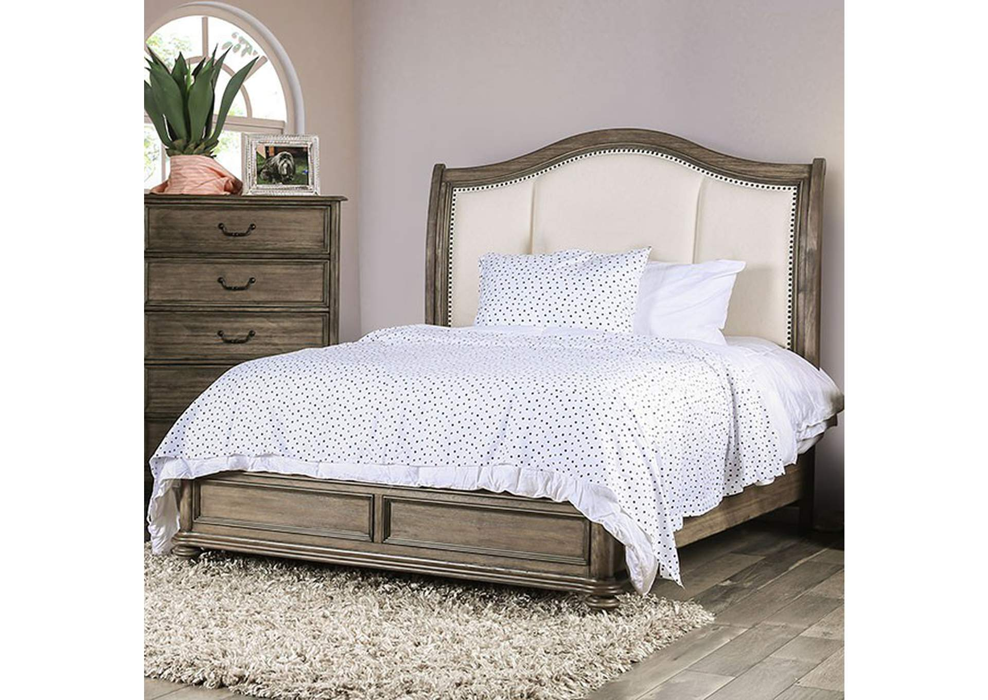 Belgrade Rustic Natural Tone Queen Bed,Furniture of America