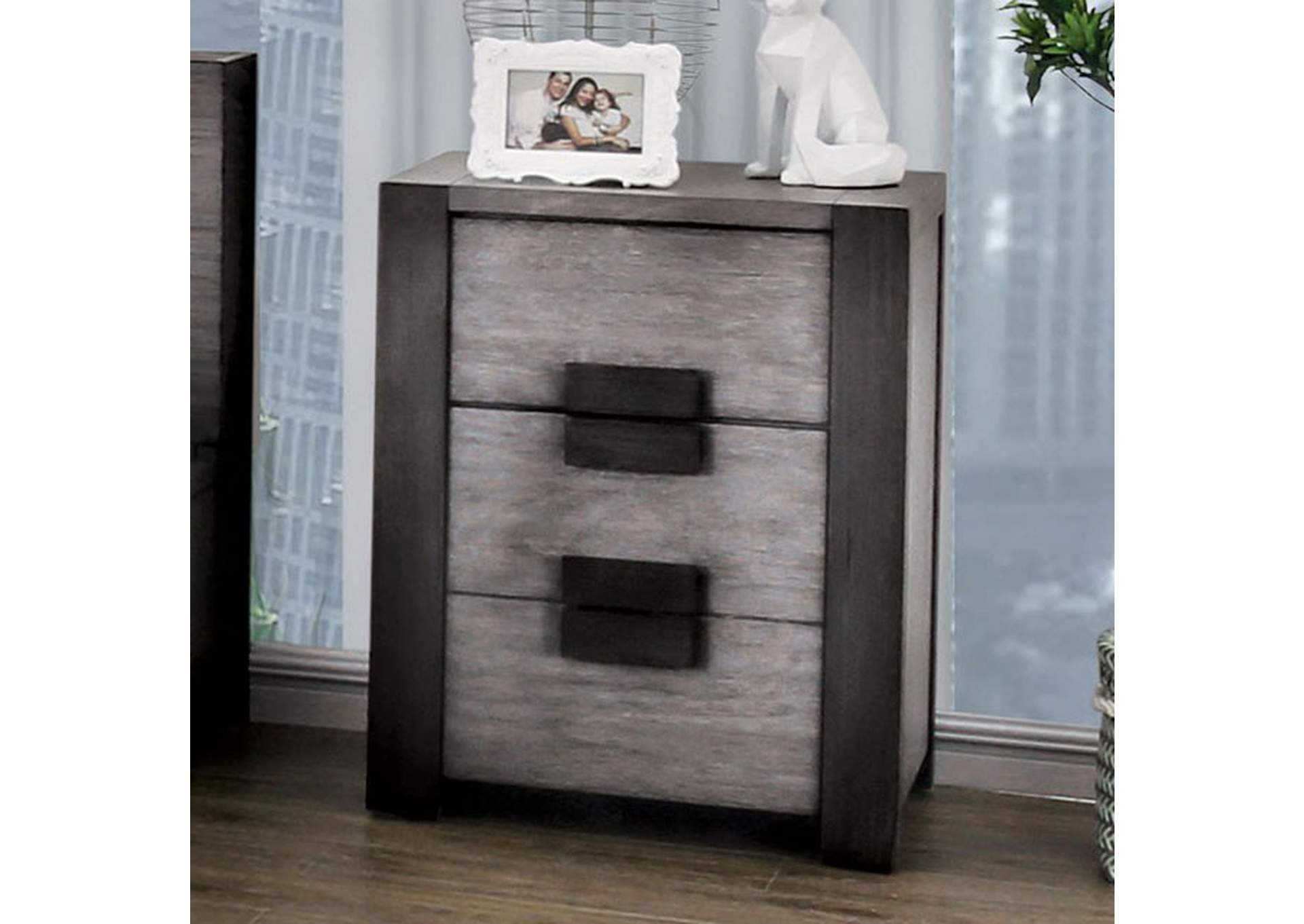 Janeiro Gray Night Stand,Furniture of America