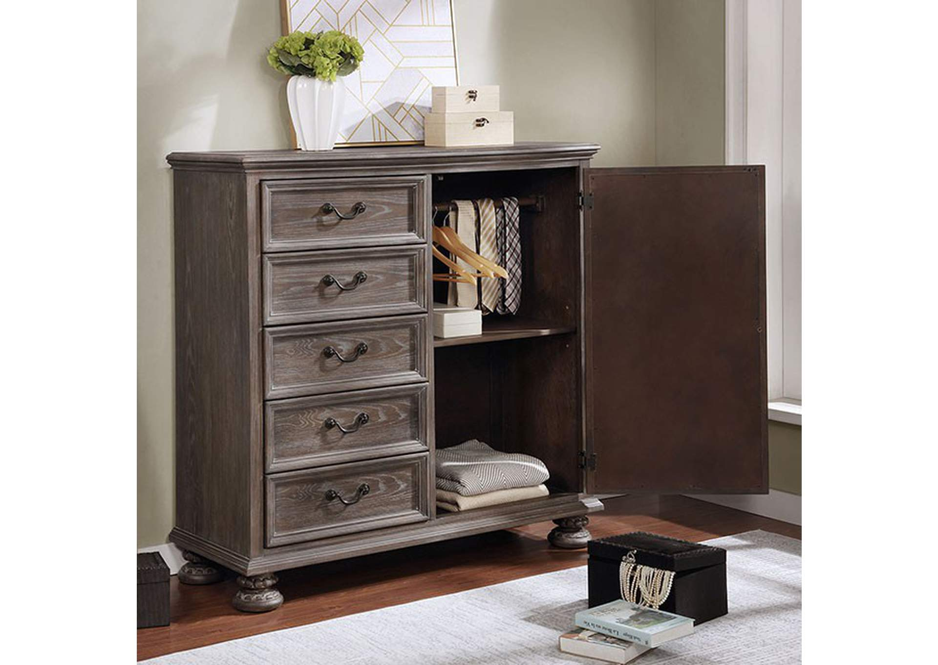 Lysandra White Armoire,Furniture of America