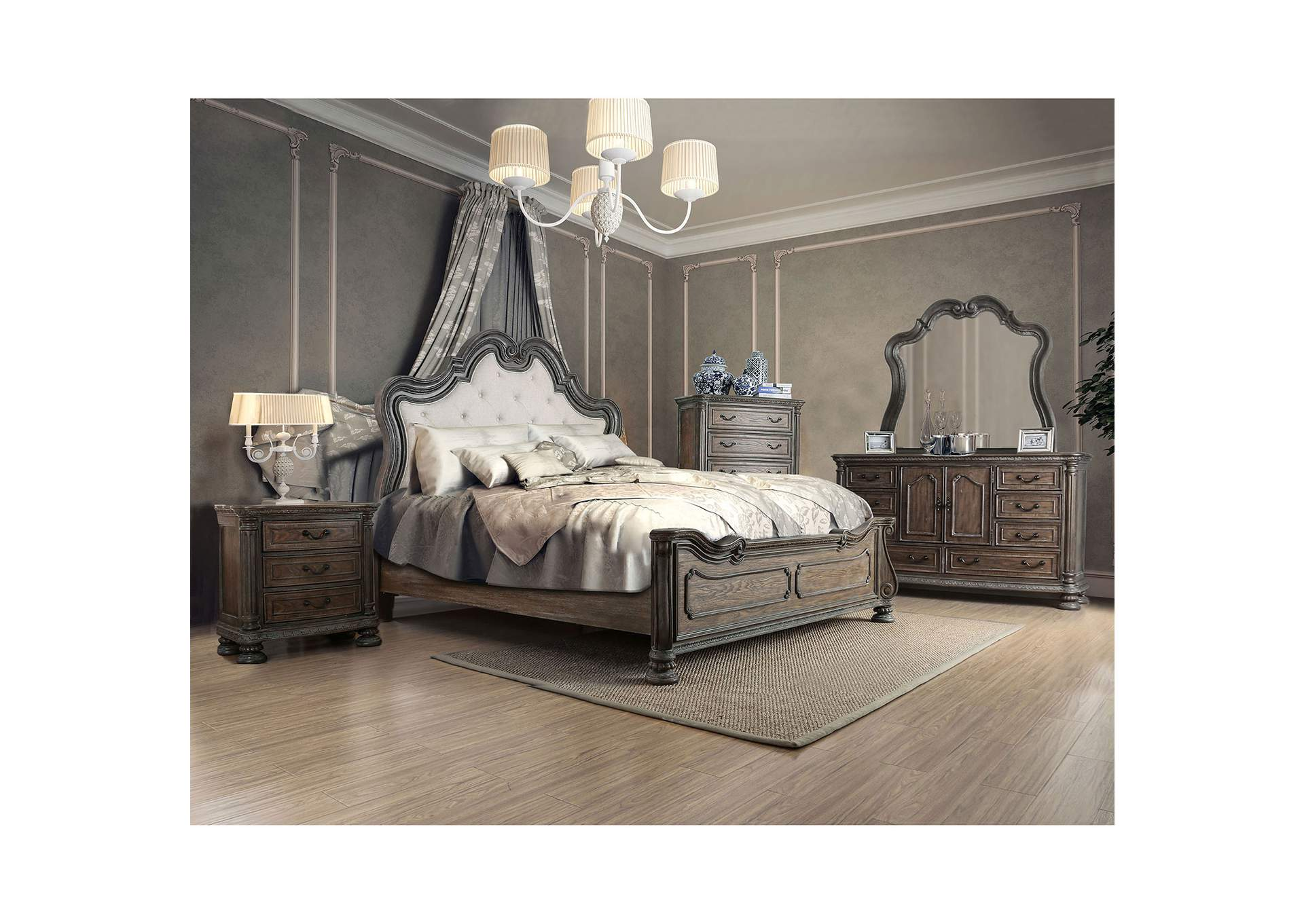 Ariadne Rustic Natural Tone Queen Bed,Furniture of America