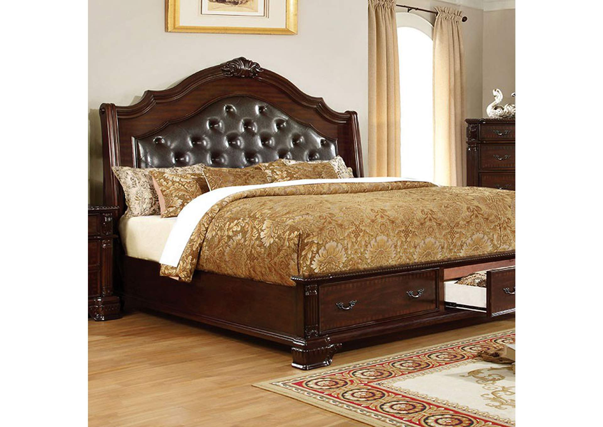 Edinburgh Queen Bed,Furniture of America