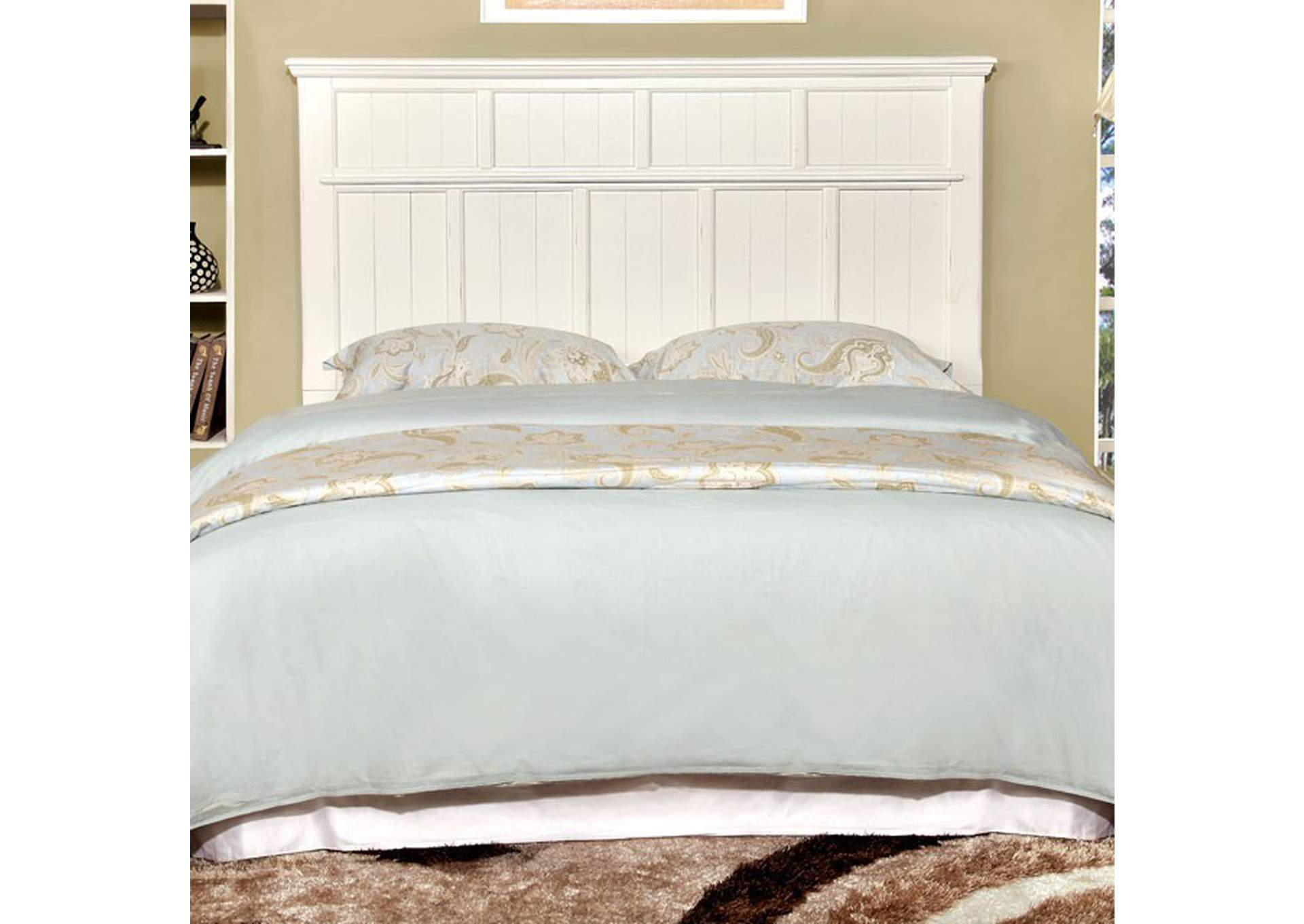 Willow Creek White California King Storage Bed,Furniture of America